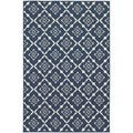 StyleHaven Lattice Navy/Ivory Indoor-Outdoor Area Rug (7'10x10'10)