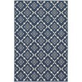 StyleHaven Lattice Navy/Ivory Indoor-Outdoor Area Rug (6'7x9'6)