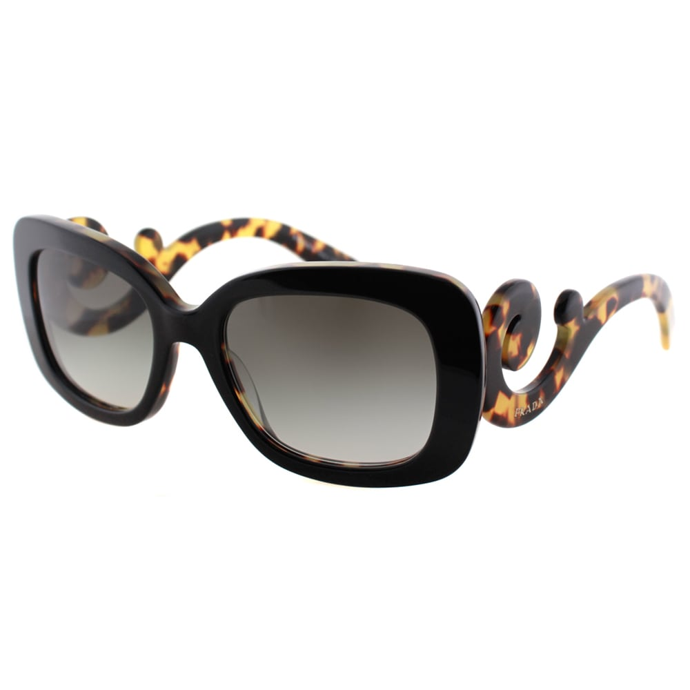4c0cbc68a55f Shop Prada Women s  Havana  Black Minimal-Baroque Medium Plastic Sunglasses  - Free Shipping Today - Overstock - 10639792