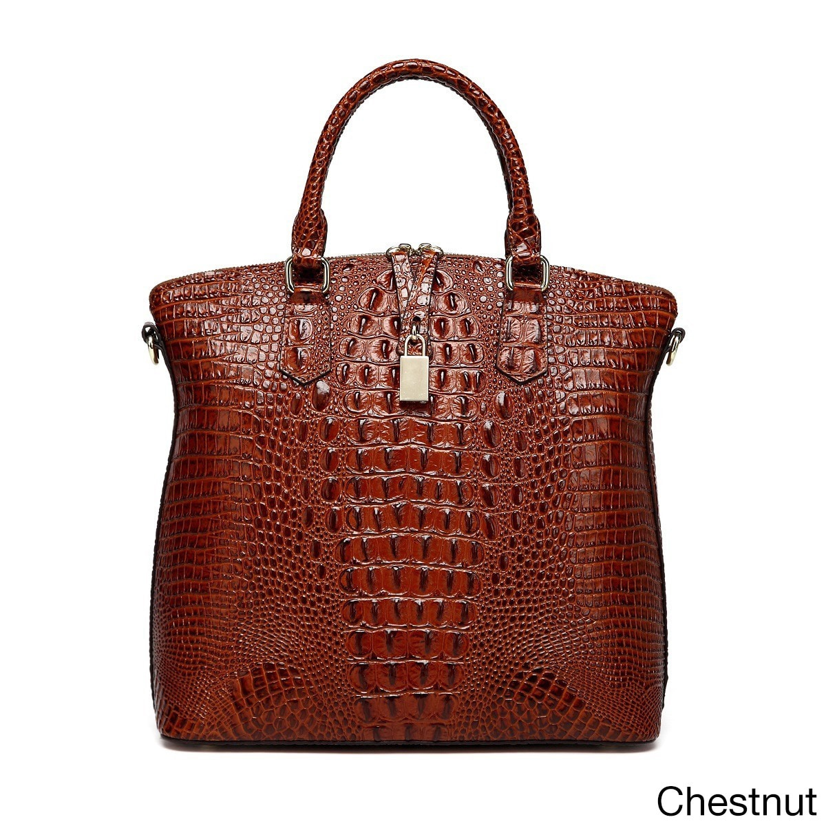 Vicenzo Leather Dione Croc Embossed Tote Handbag On Free Shipping Today 10640074