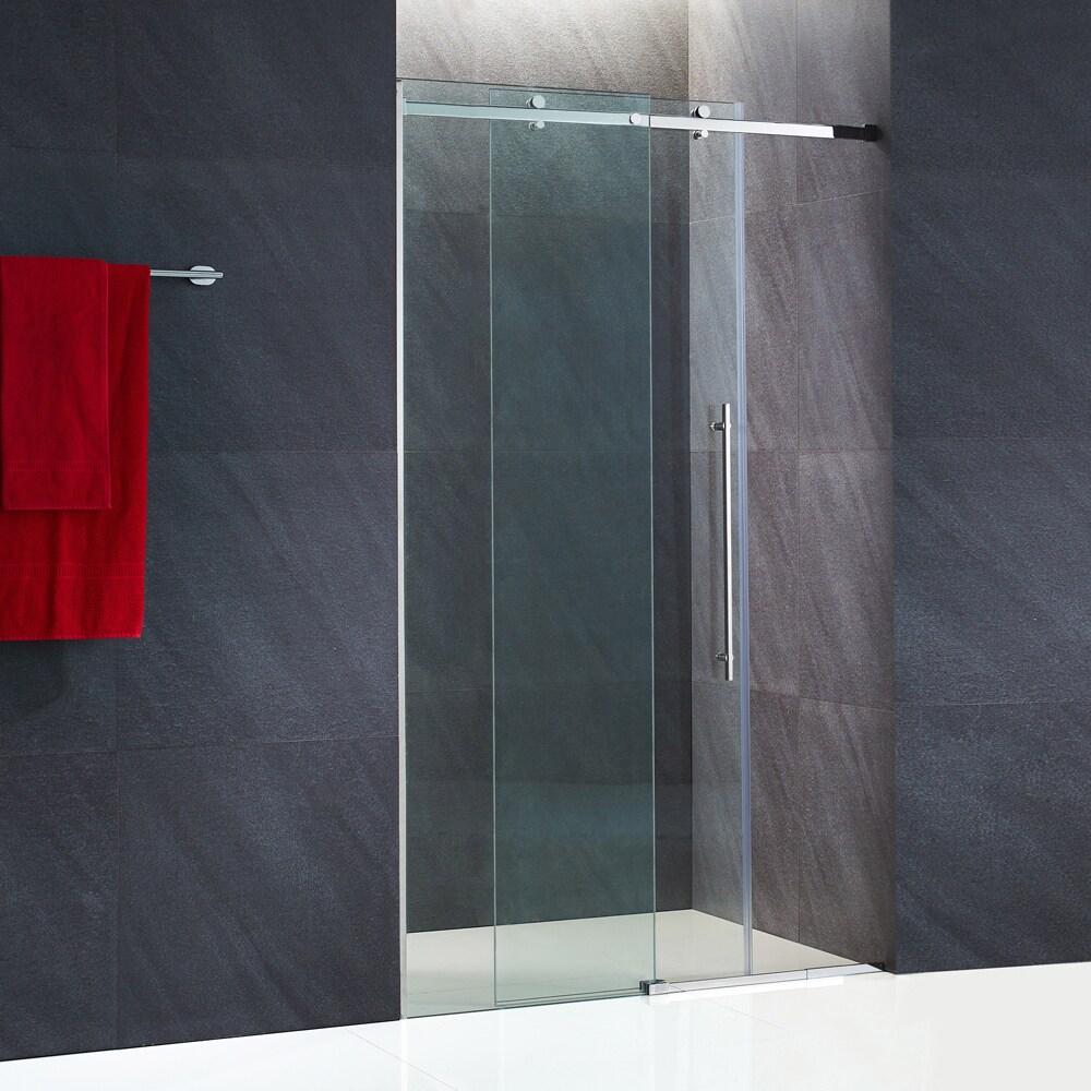 Shop Vigo Luca 60 Inch Frameless Shower Door With Clear Glass And