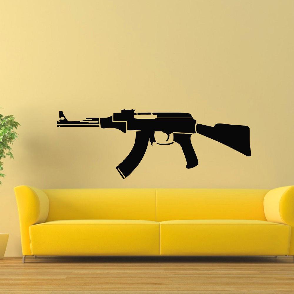 AK-47 Gun Vinyl Wall Art Decal Sticker - Free Shipping On Orders ...