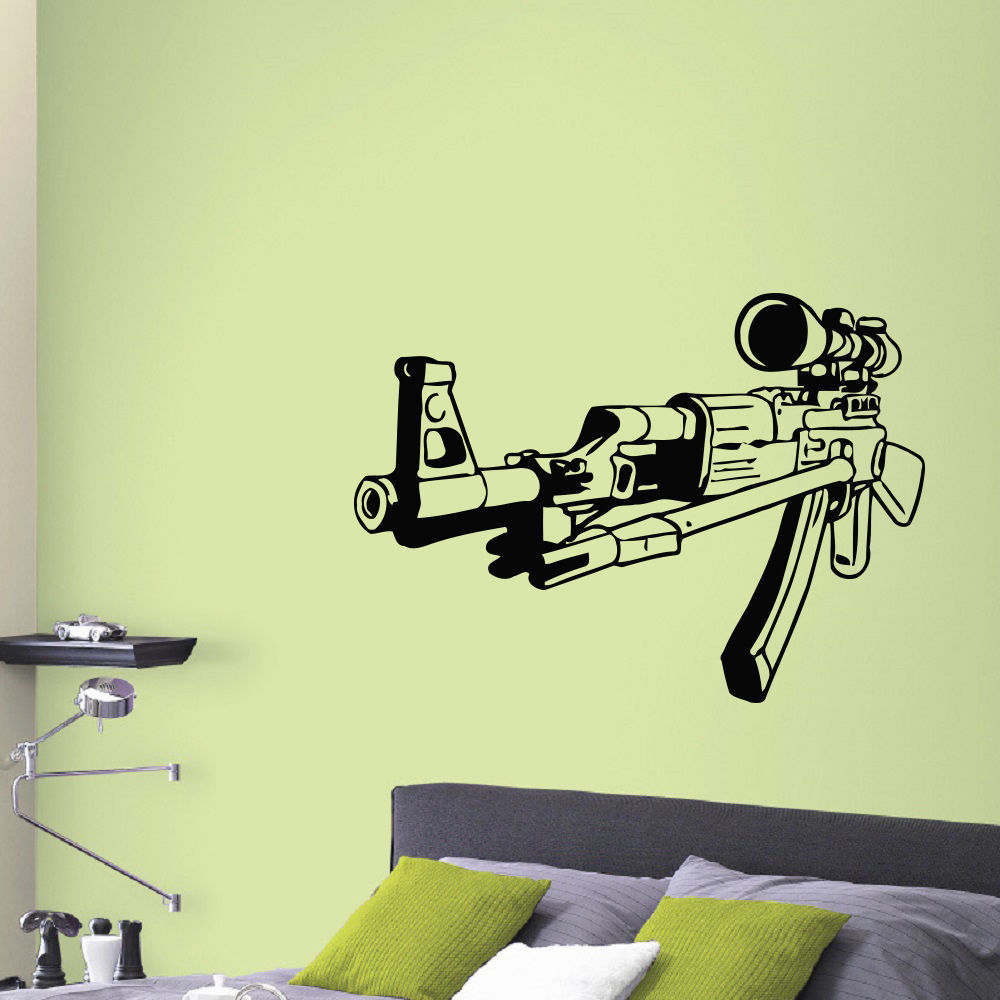 Shop Sniper AK-47 Rifle Vinyl Wall Art Decal Sticker - Free Shipping ...