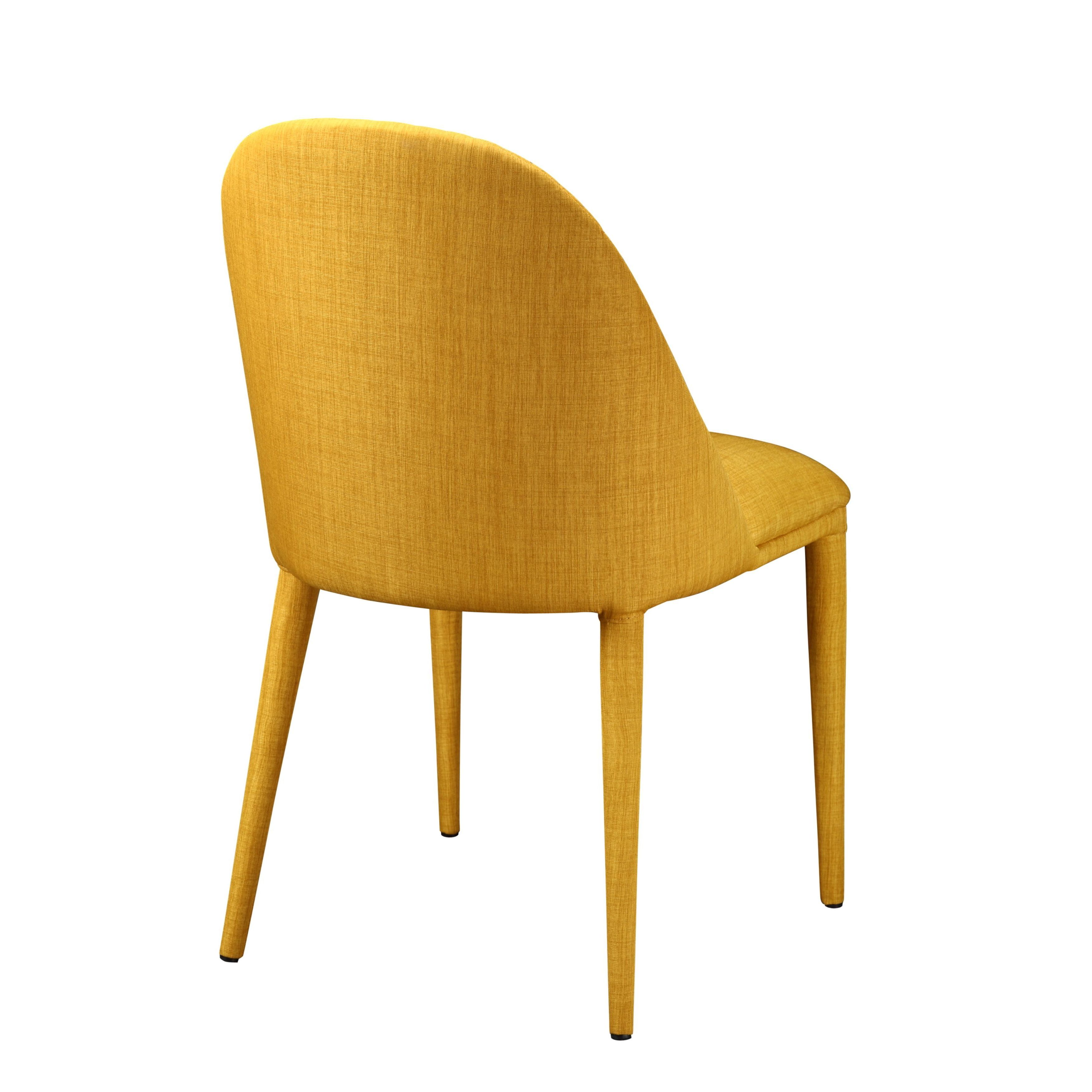 Aurelle Home Spring Mid Century Modern Yellow Dining Chair On Free Shipping Today 10643068