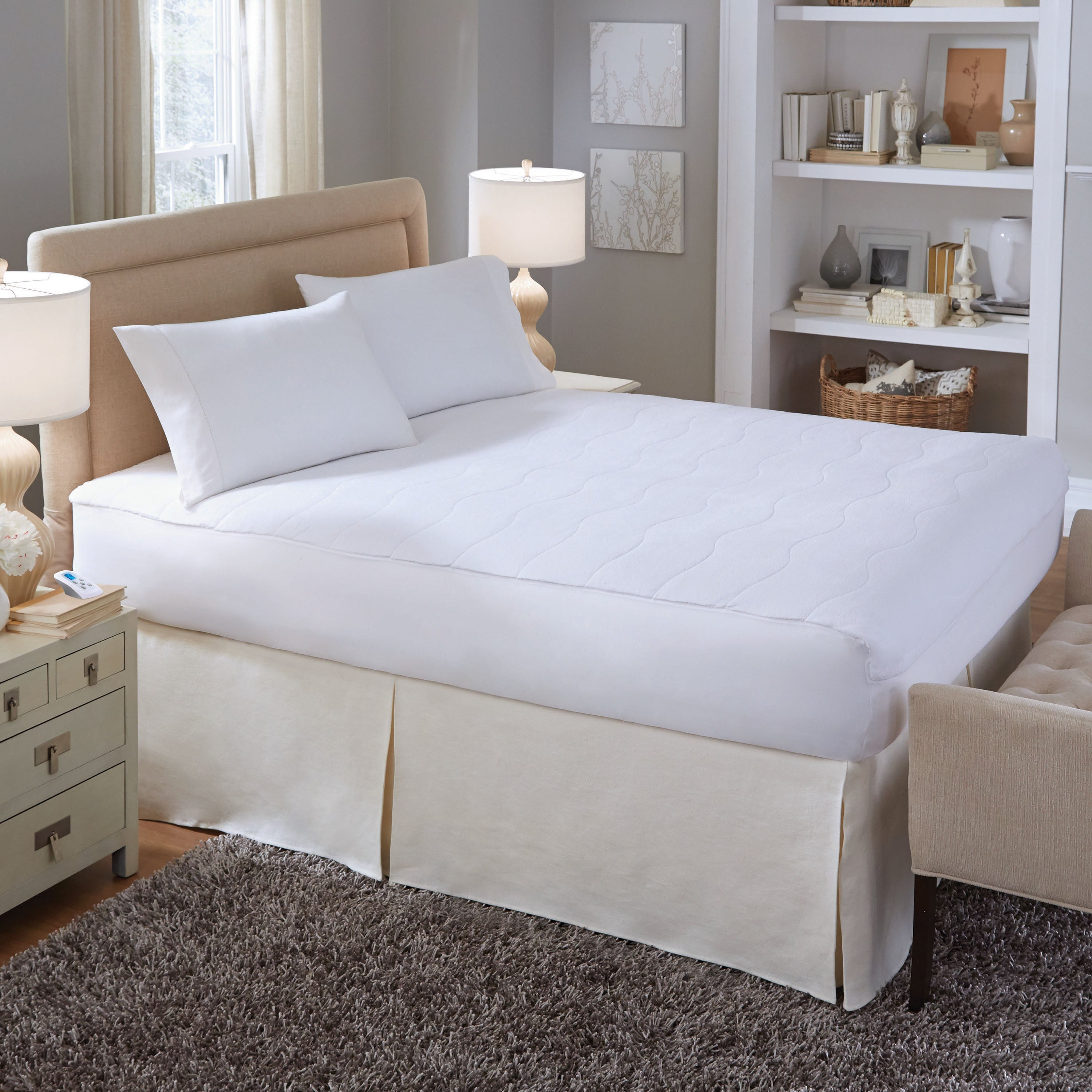 Shop Serta Electric Microplush 110 Voltage Heated Mattress Pad   On Sale    Free Shipping Today   Overstock.com   10643135