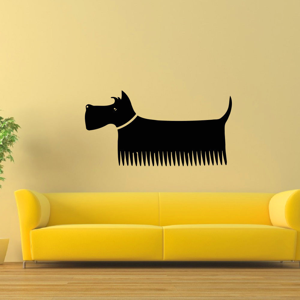 Shop Pet Grooming Salon Decor Dog Vinyl Wall Art Decal Sticker ...
