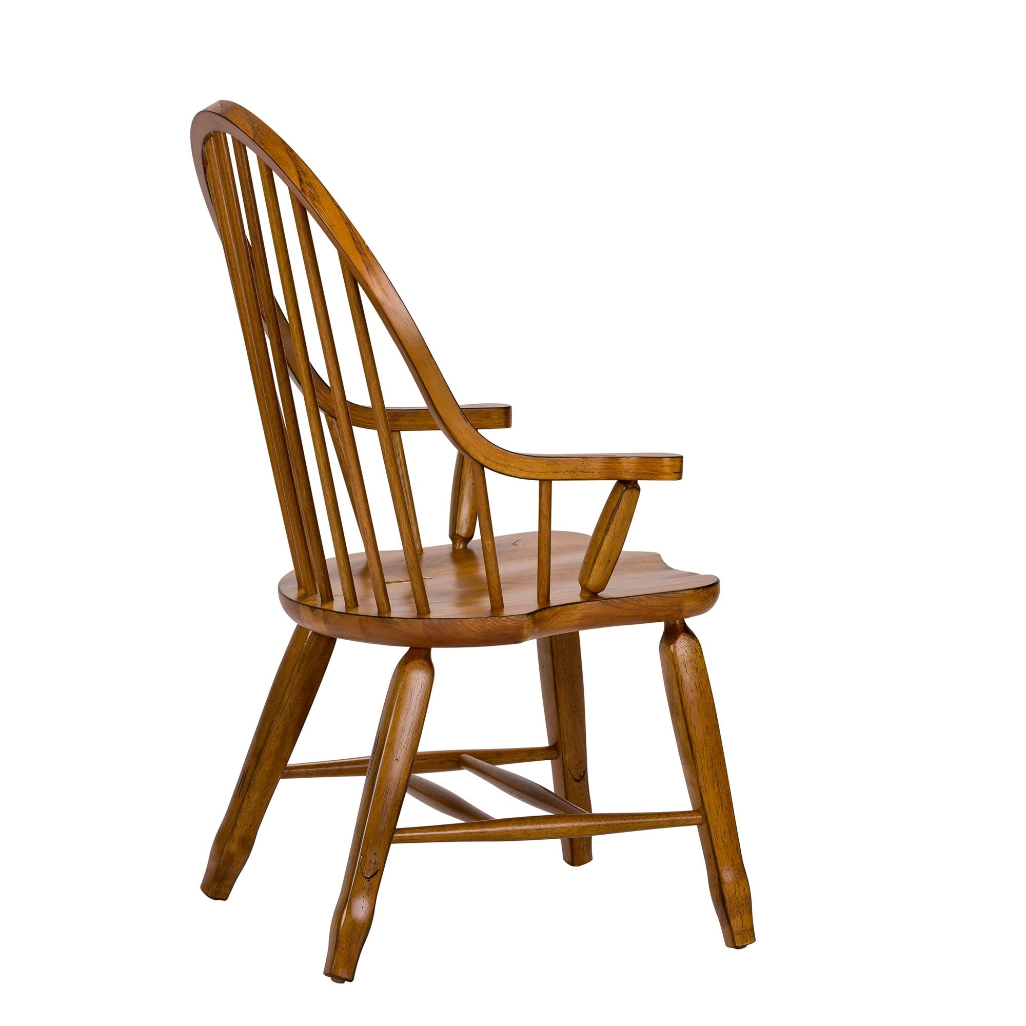 Shop Treasures Rustic Oak Bow Back Arm Chair - On Sale - Free Shipping Today - Overstock.com - 10644775  sc 1 st  Overstock.com & Shop Treasures Rustic Oak Bow Back Arm Chair - On Sale - Free ...