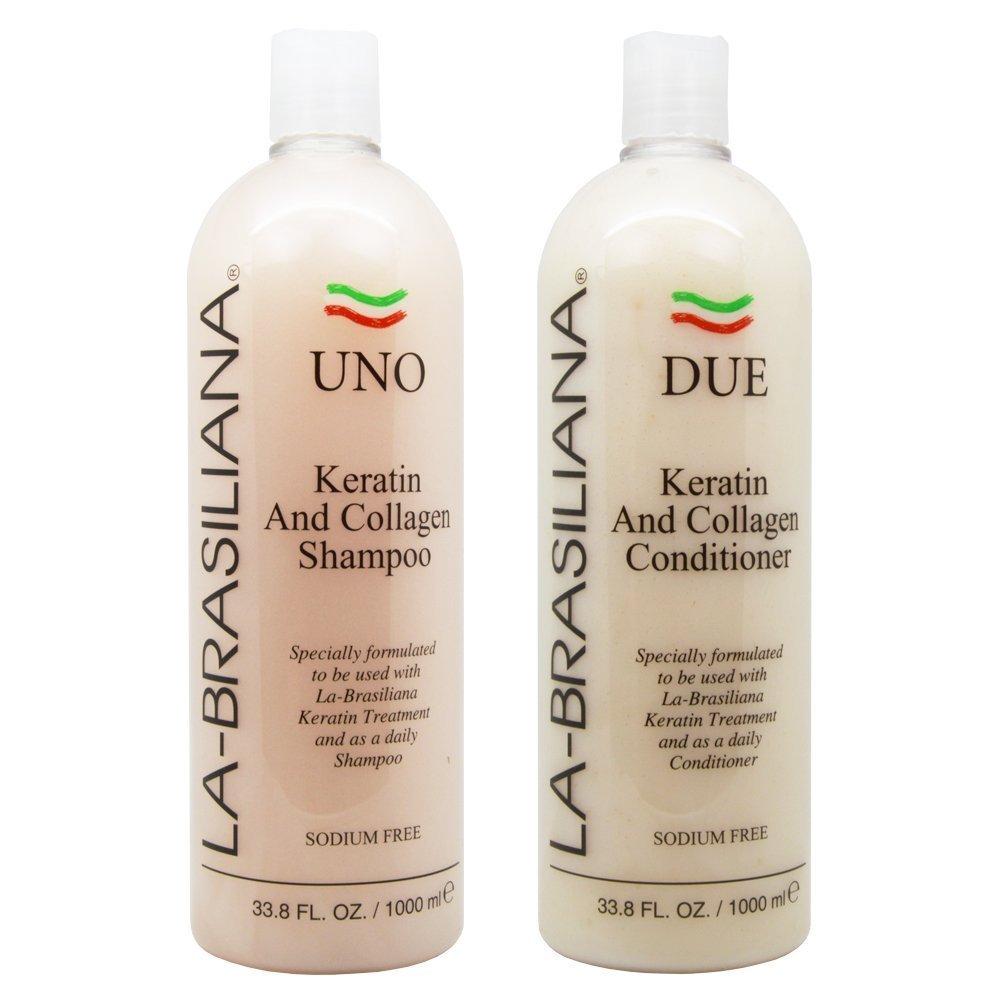 Shop La Brasiliana Uno Keratin And Collagen 33 8 Ounce Shampoo And