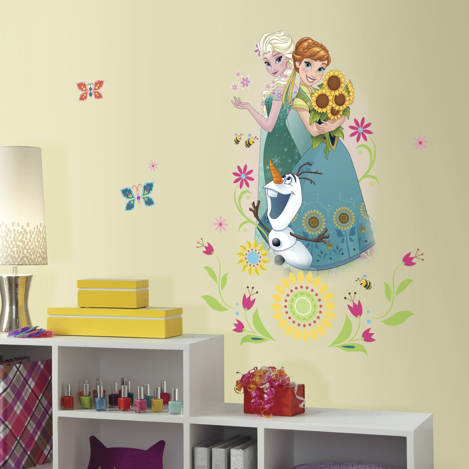 Shop RoomMates Disney Frozen Fever Group Giant Wall Graphic Decal ...