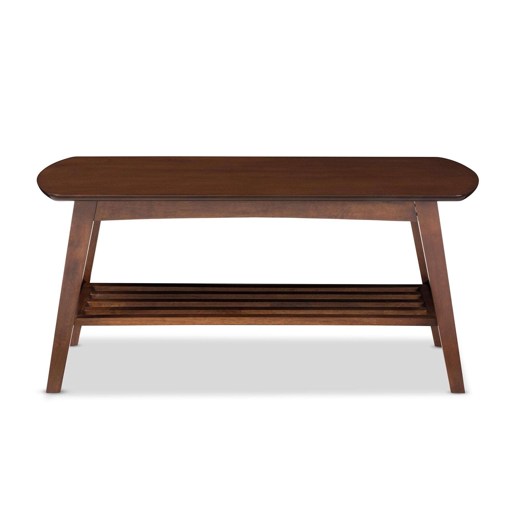 Carson Carrington Karkkila Mid Century Modern Scandinavian Style Dark Walnut Coffee Table Free Shipping Today 17715485