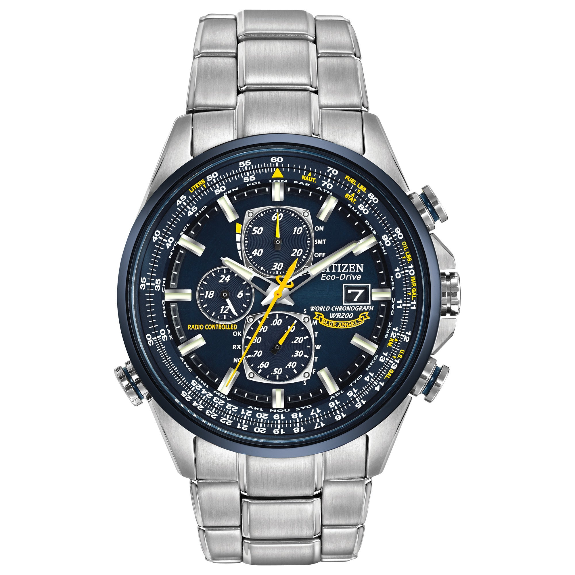 2f36cf8f84b Shop Citizen Men s Eco-Drive Blue Angels World Chronograph AT Watch ...