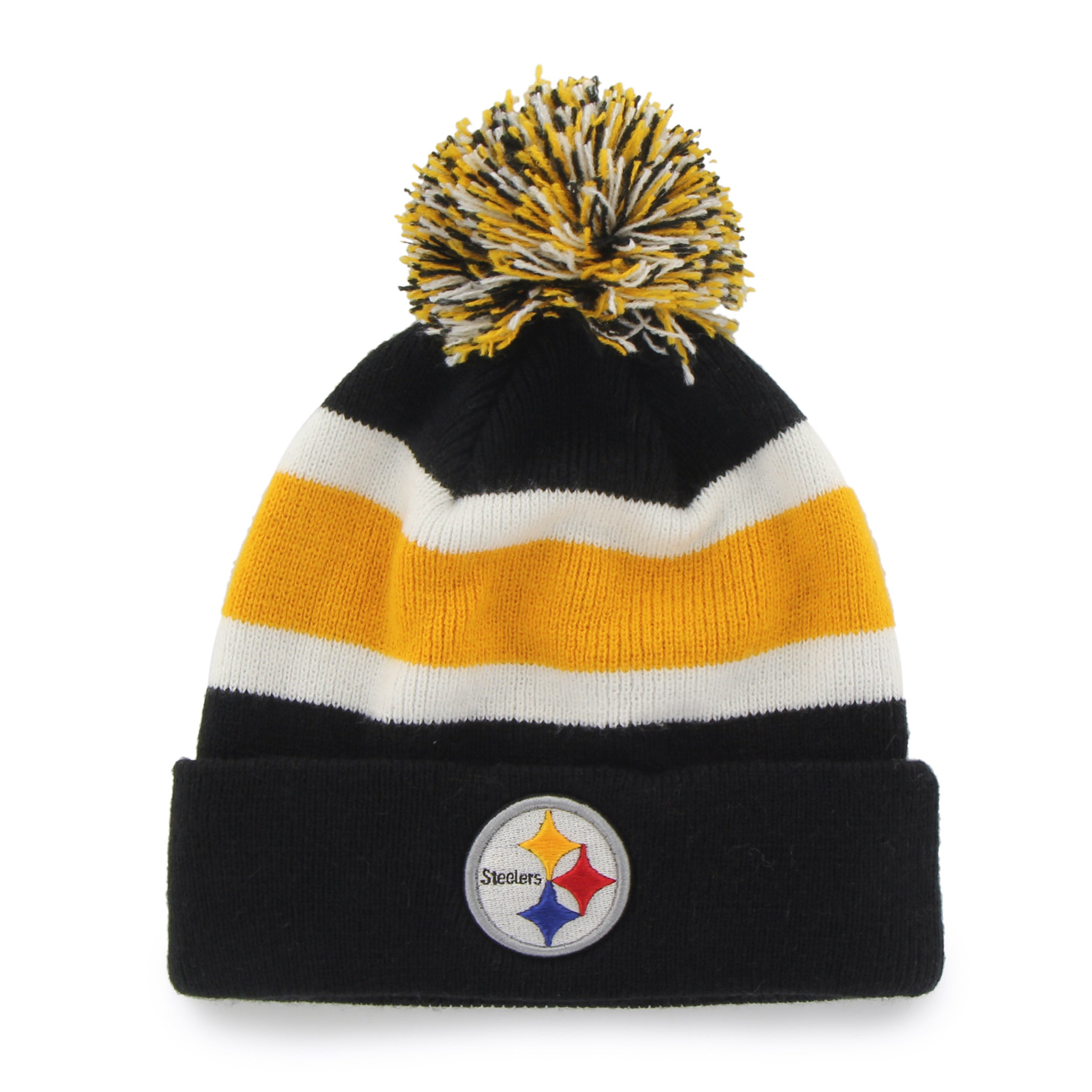 303194f4 47 Brand Pittsburgh Steelers Breakaway Beanie Hat - Black
