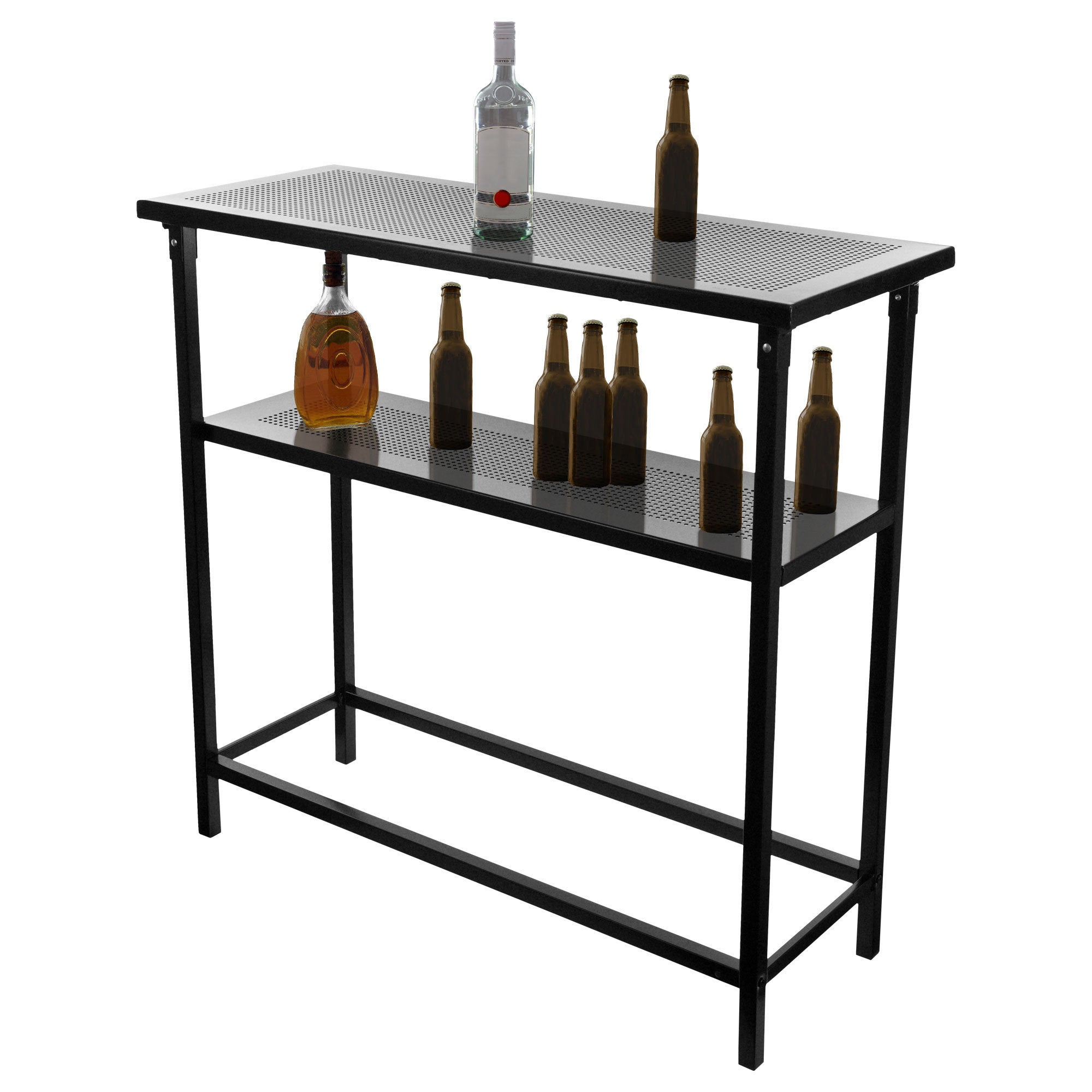 Bud Light Metal 2 Shelf Portable Bar Table W Carrying Case Free Shipping Today 17721217