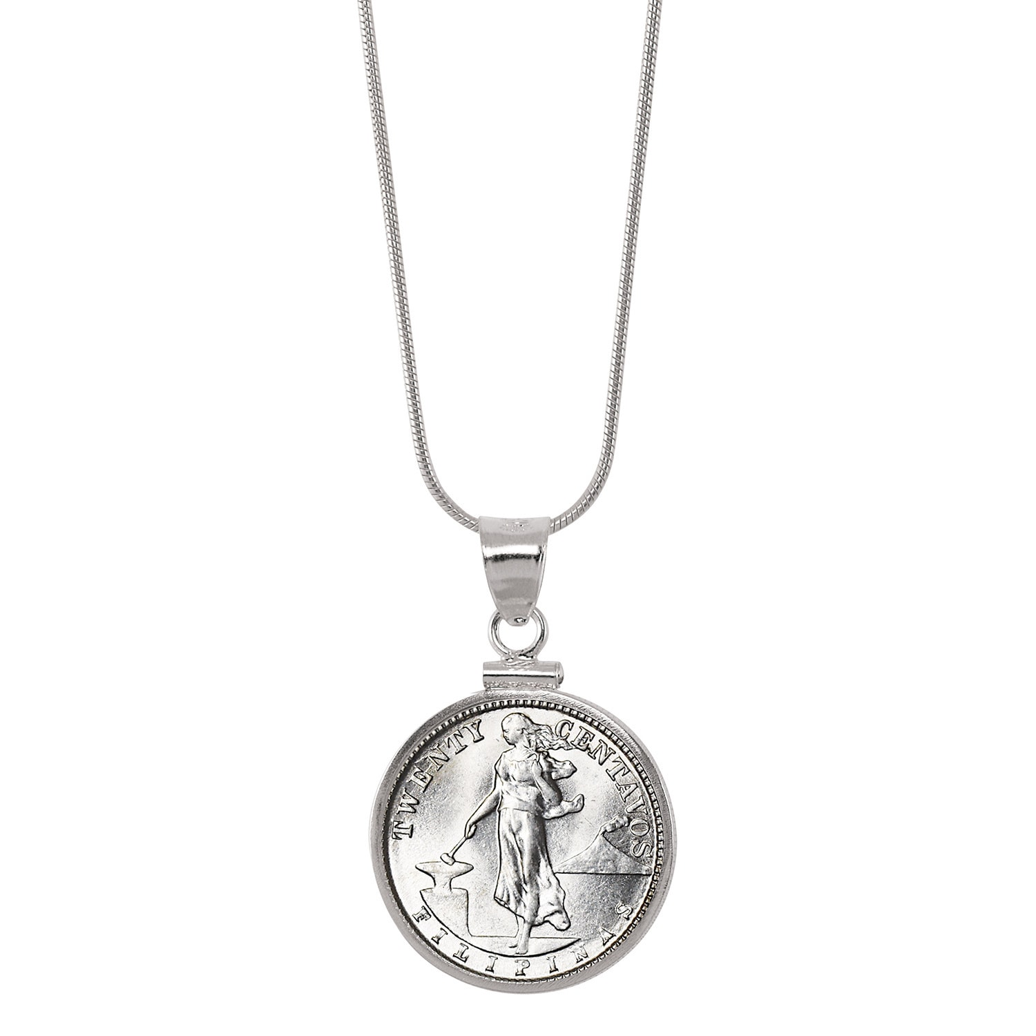 coin spike sterling jewelry liberty emeryk products with necklace silver