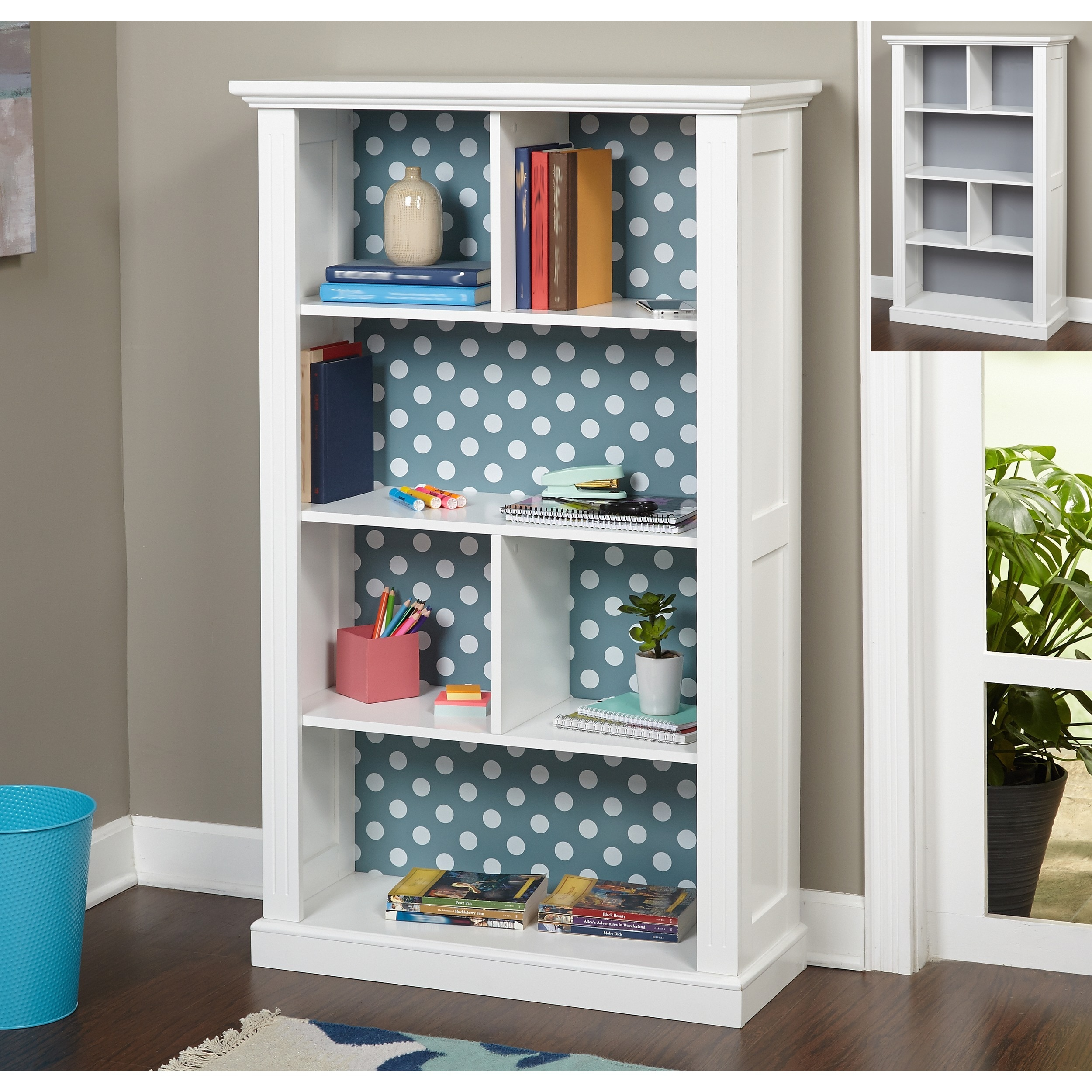 Simple Living Ella Bookcase With Reversible Back Panel   Free Shipping  Today   Overstock.com   17721935
