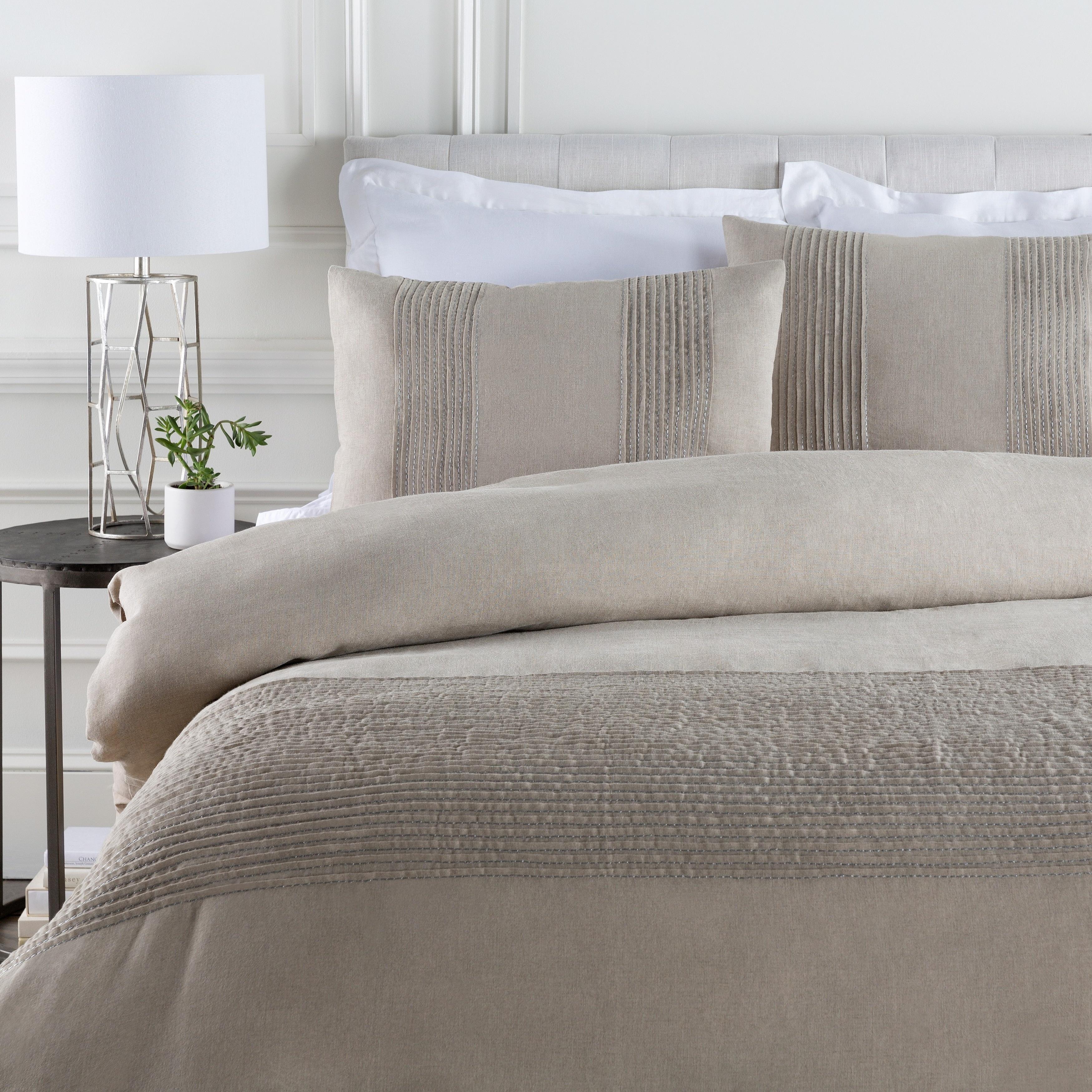 Coburn Grey Linen Duvet Cover Set   Free Shipping Today   Overstock.com    17722295