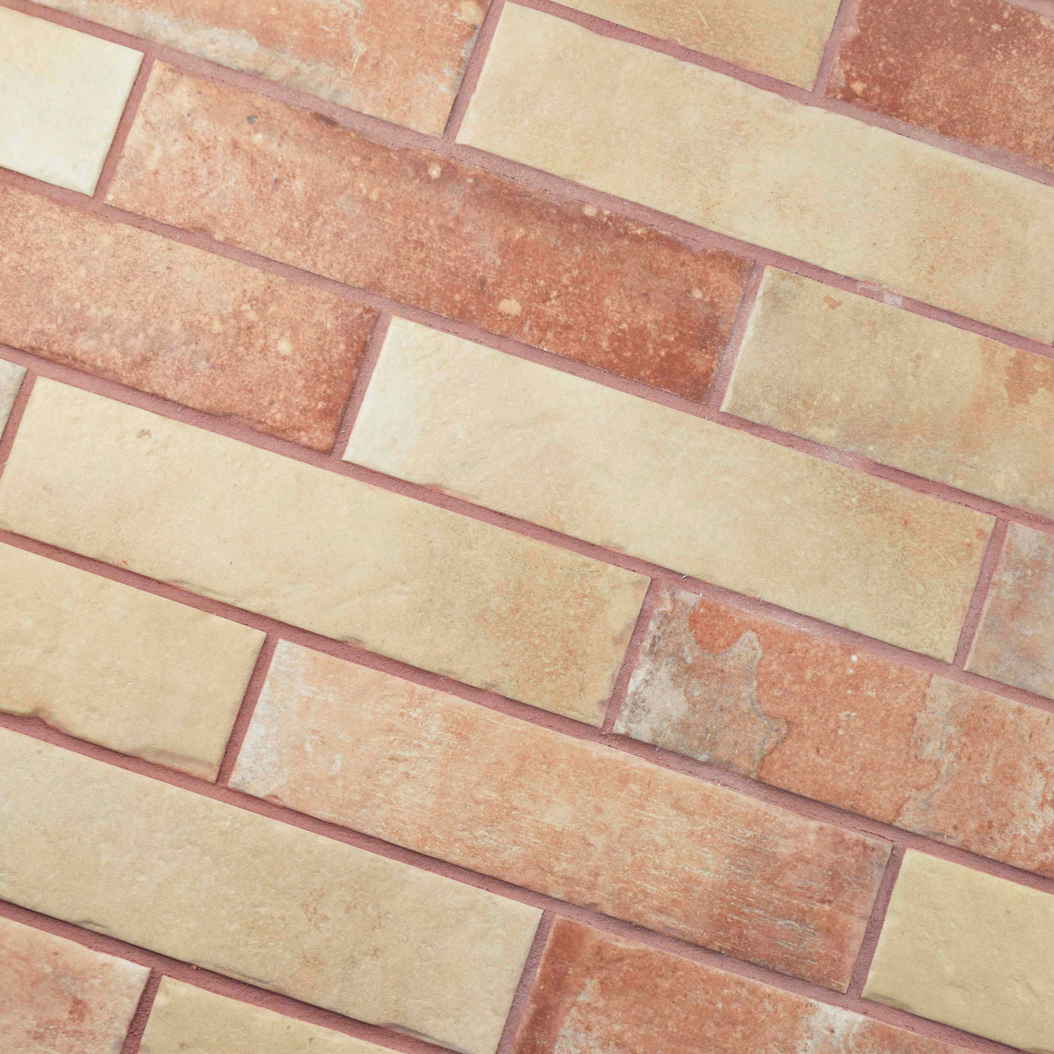 Somertile 2 5x10 Inch Suffolk Brick North East Porcelain Floor And Wall Tile 27 Tiles 5 29 Sqft Free Shipping On Orders Over 45
