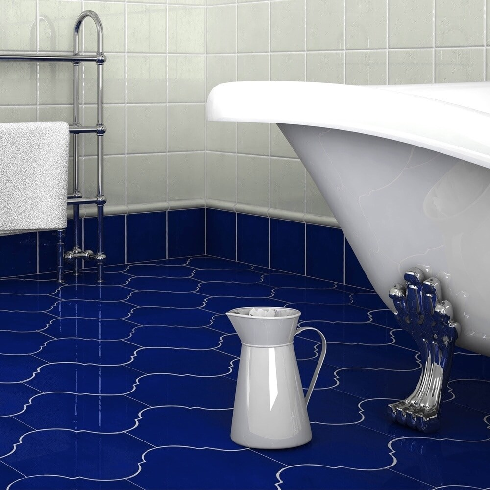 Somertile 10 375x11 375 Inch Mar Nostrum Provenzal Messina Porcelain Floor And Wall Tile 18 Tiles 15 27 Sqft
