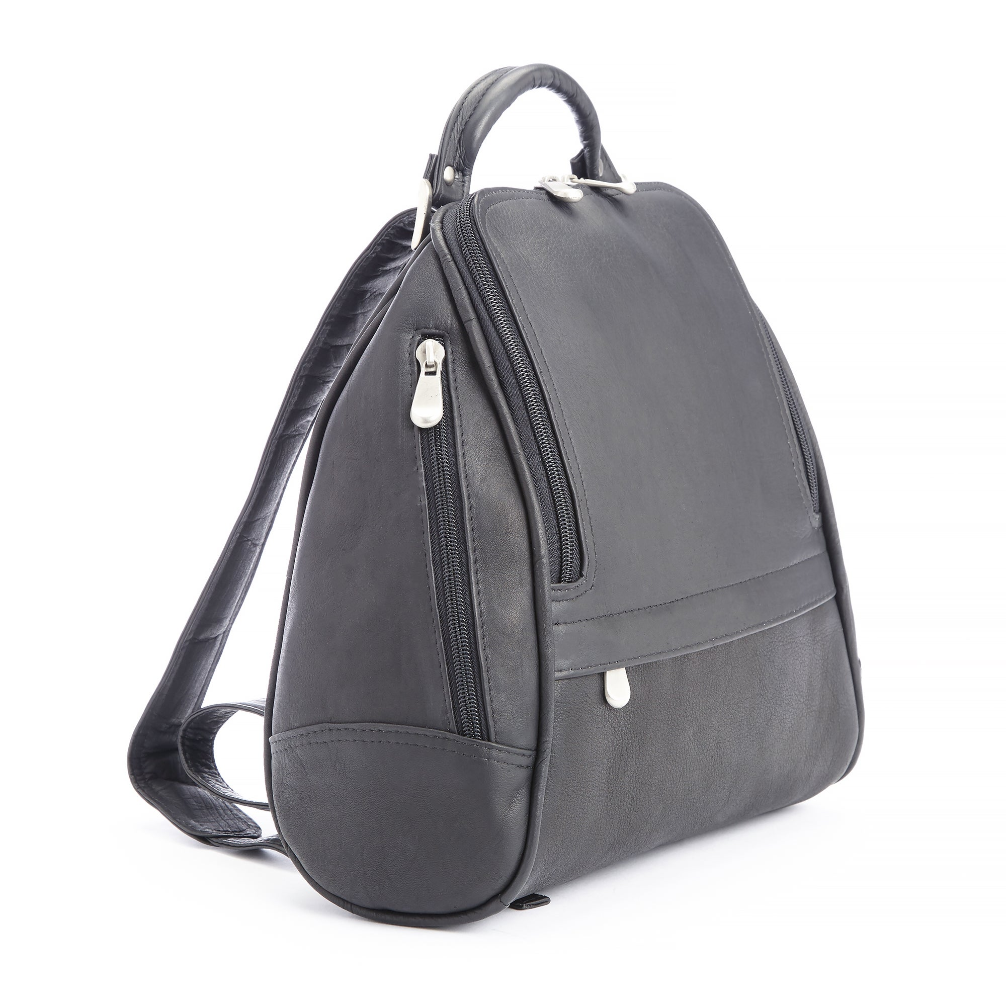 Shop Royce Leather Handcrafted Colombian Leather Luxury Sling Backpack -  Free Shipping Today - Overstock - 10658048 7f89a4e474158