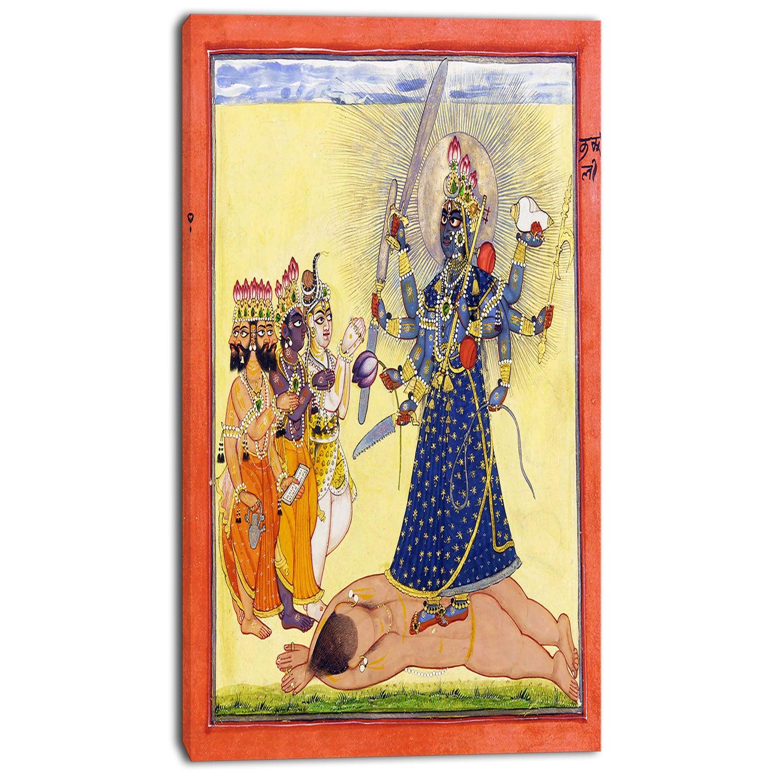 Design Art \'Goddess Bhadrakali - Worshipped by the Gods\' Canvas Art ...