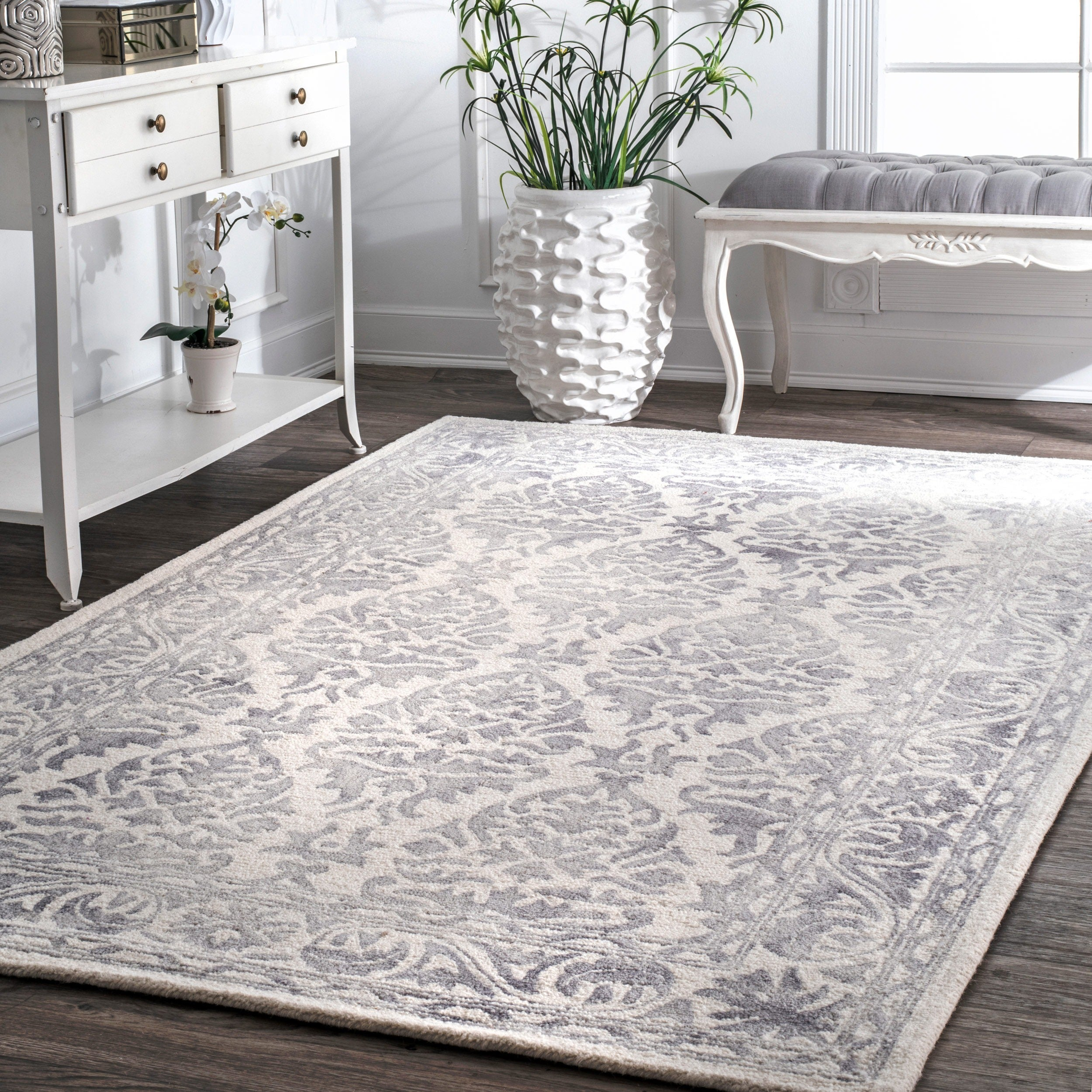 rug moroccan x nuloom modern floral trellis wool runner rugs abstract loom handmade alexa nu