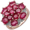 Malaika 14k Rose Goldplated Sterling Silver 5 1/4ct Ruby Ring