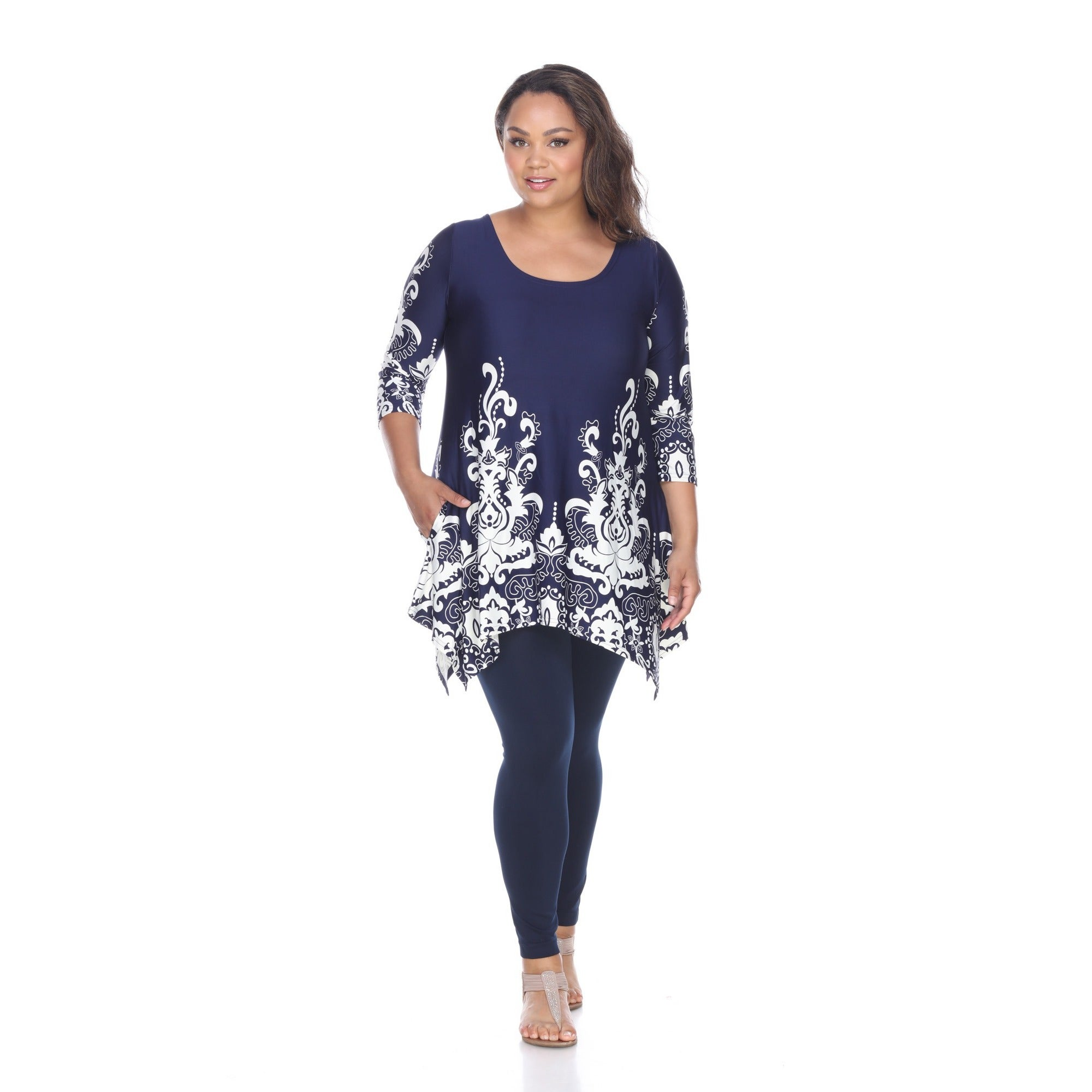 Long Tunic Tops To Wear With Leggings Plus Size