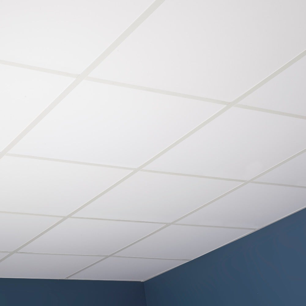 Genesis smooth pro white 2 x 2 ft lay in ceiling tile pack of 12 lay in ceiling tile pack of 12 free shipping on orders over 45 overstock 17733782 dailygadgetfo Image collections