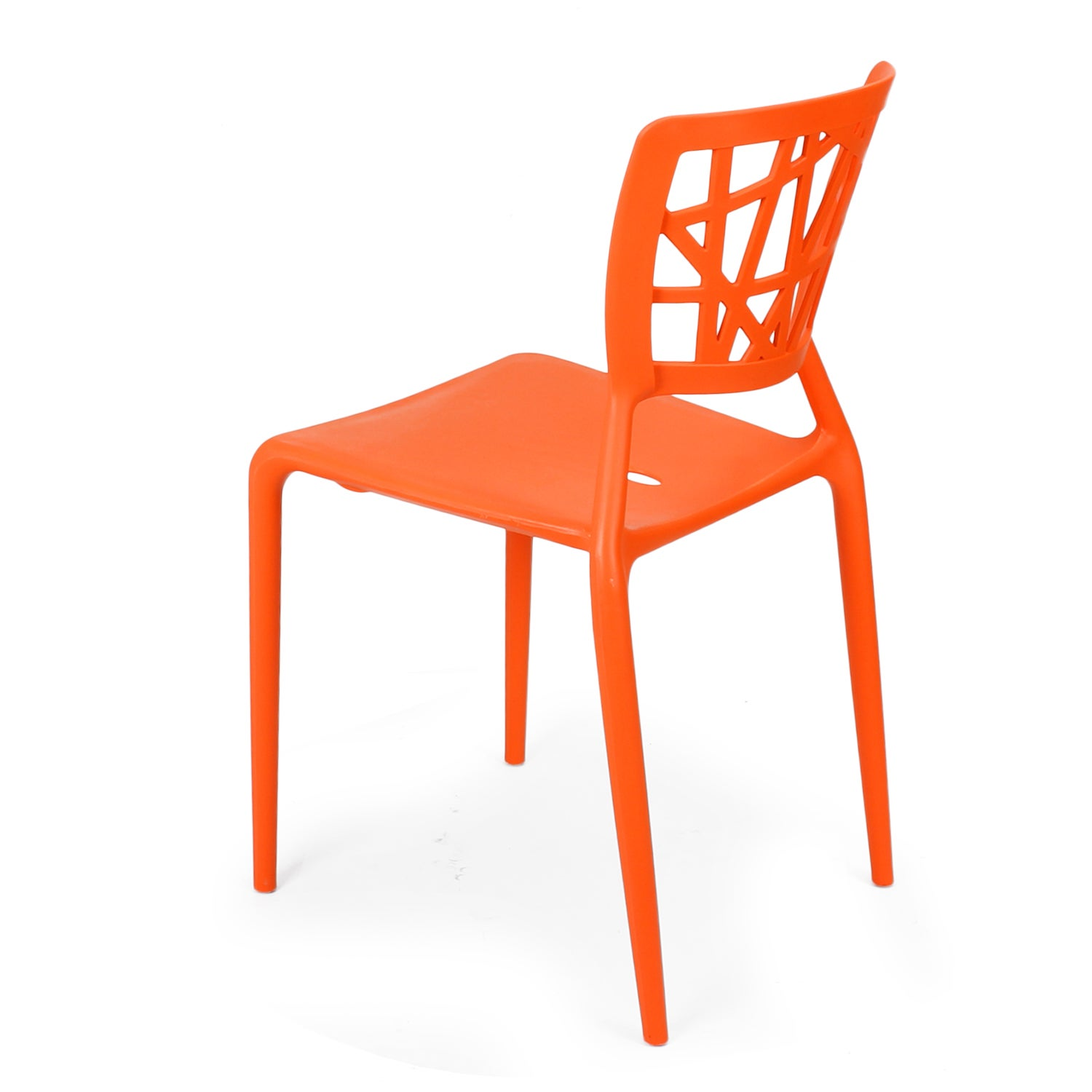 Shop Adeco Polypropylene Hard Plastic White Dining Chairs (Set Of 2)   Free  Shipping Today   Overstock.com   10669095