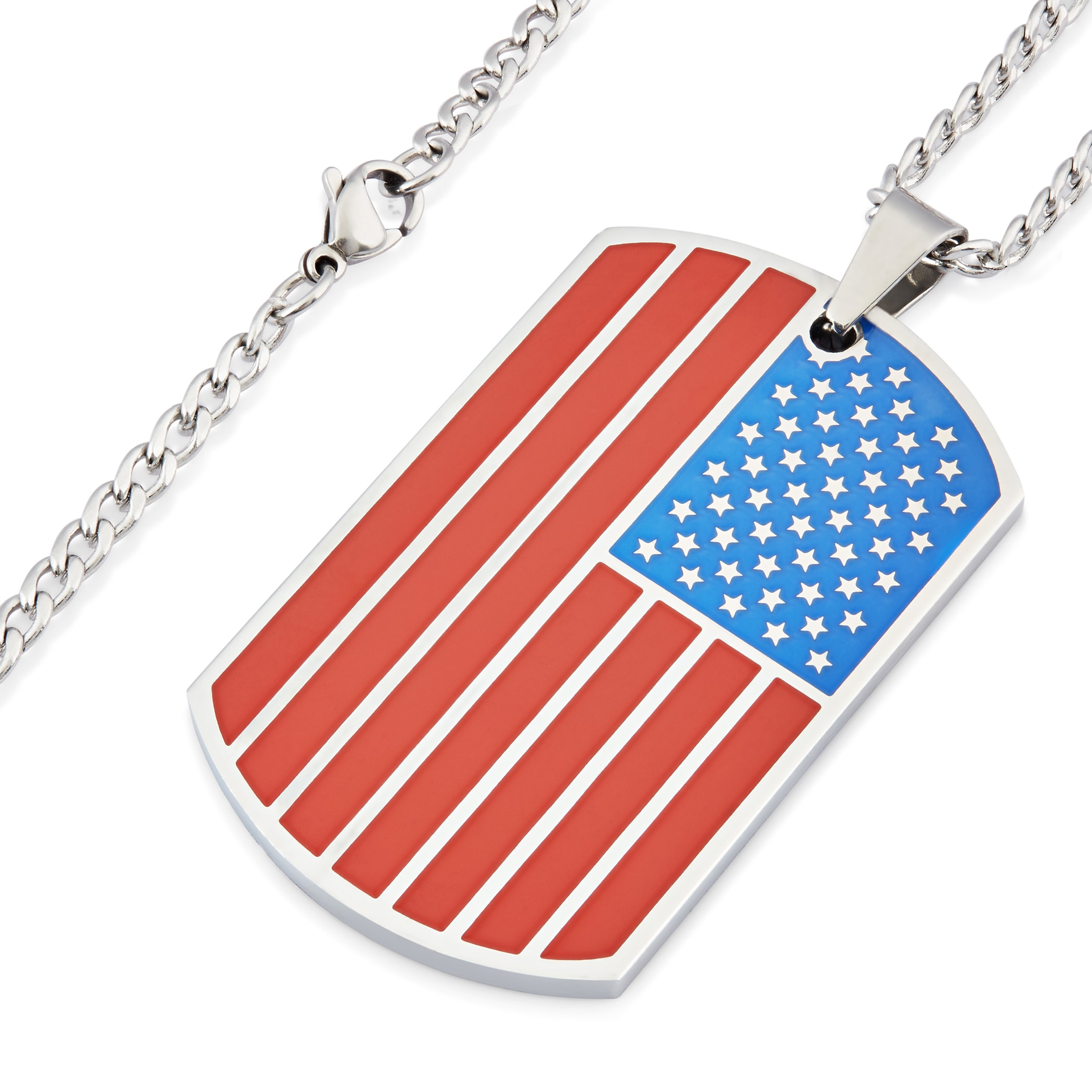 patriotic pride necklace silver bracelet transformation or luxury products american gold usa asset in steel surgical flag