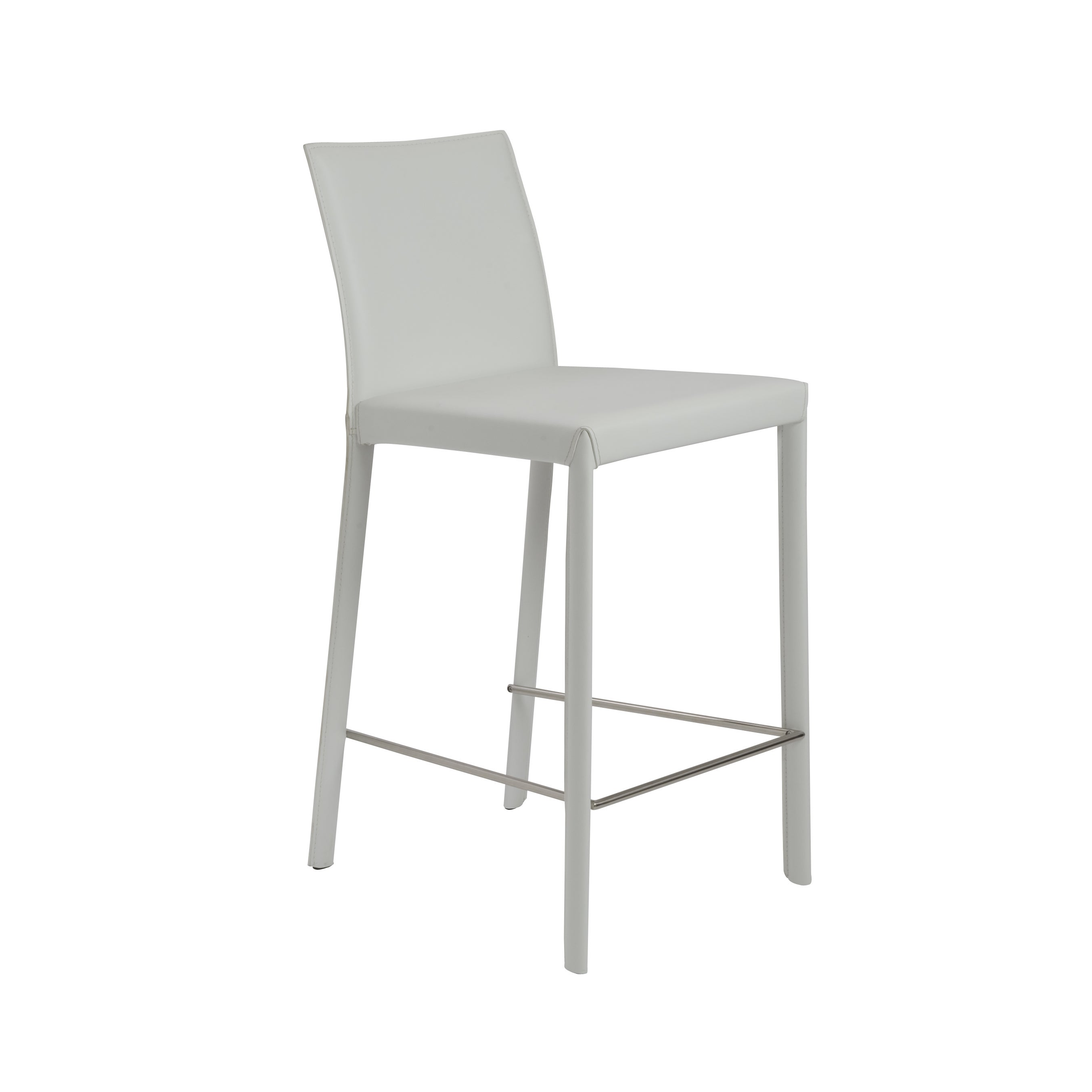 Shop Hasina 26 Inch White Stainless Steel Counter Stool Set Of 2