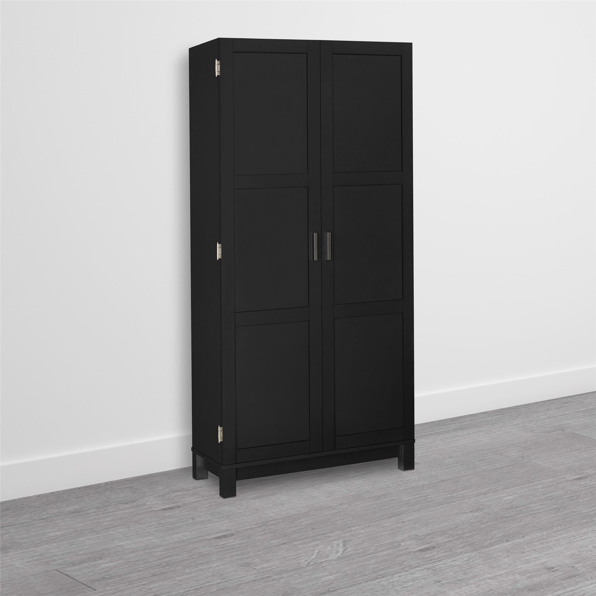 Shop avenue greene commerce black wood 64 inch storage cabinet free shipping today overstock com 20186981