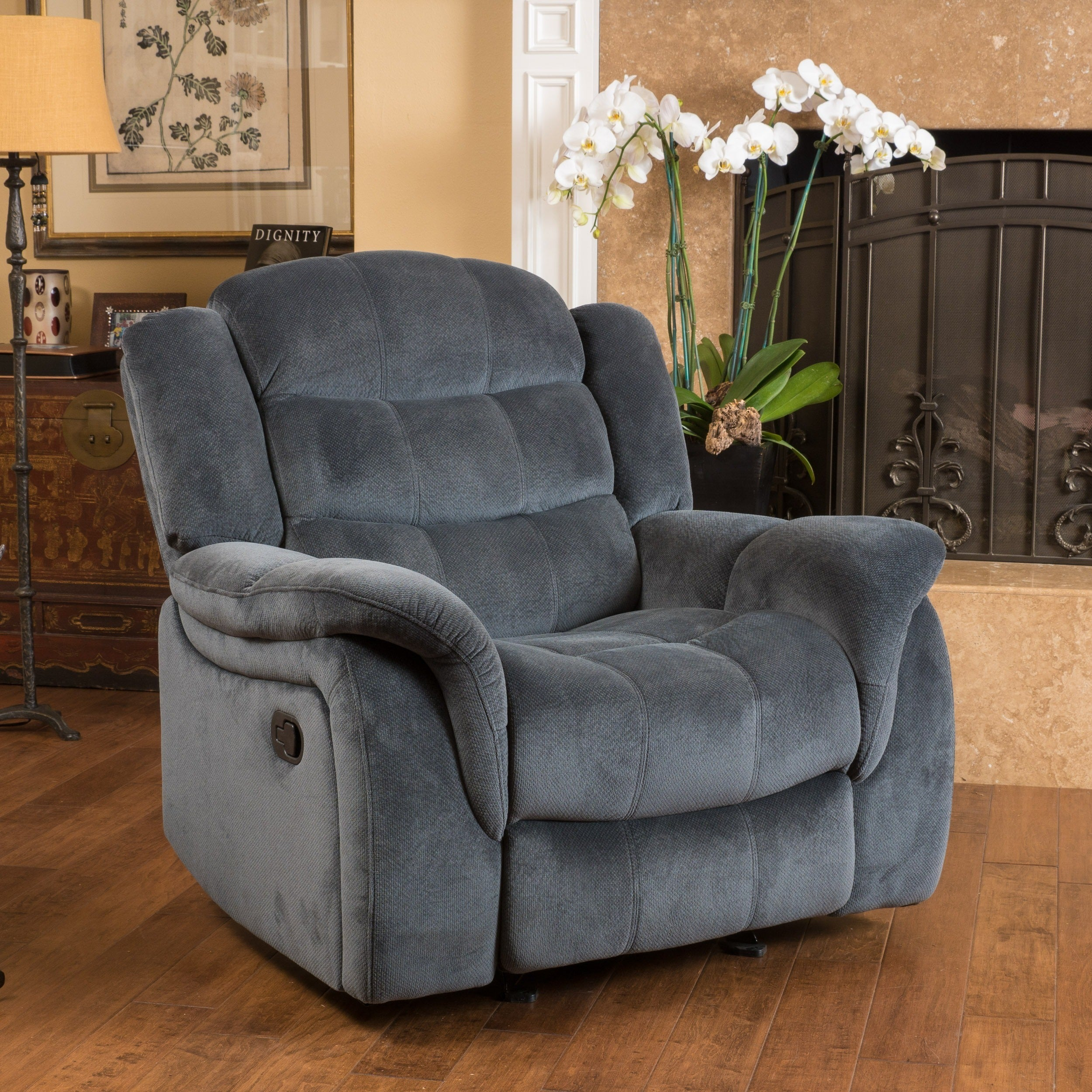 Shop Hawthorne Fabric Glider Recliner Club Chair By Christopher Knight Home    On Sale   Free Shipping Today   Overstock.com   10673336
