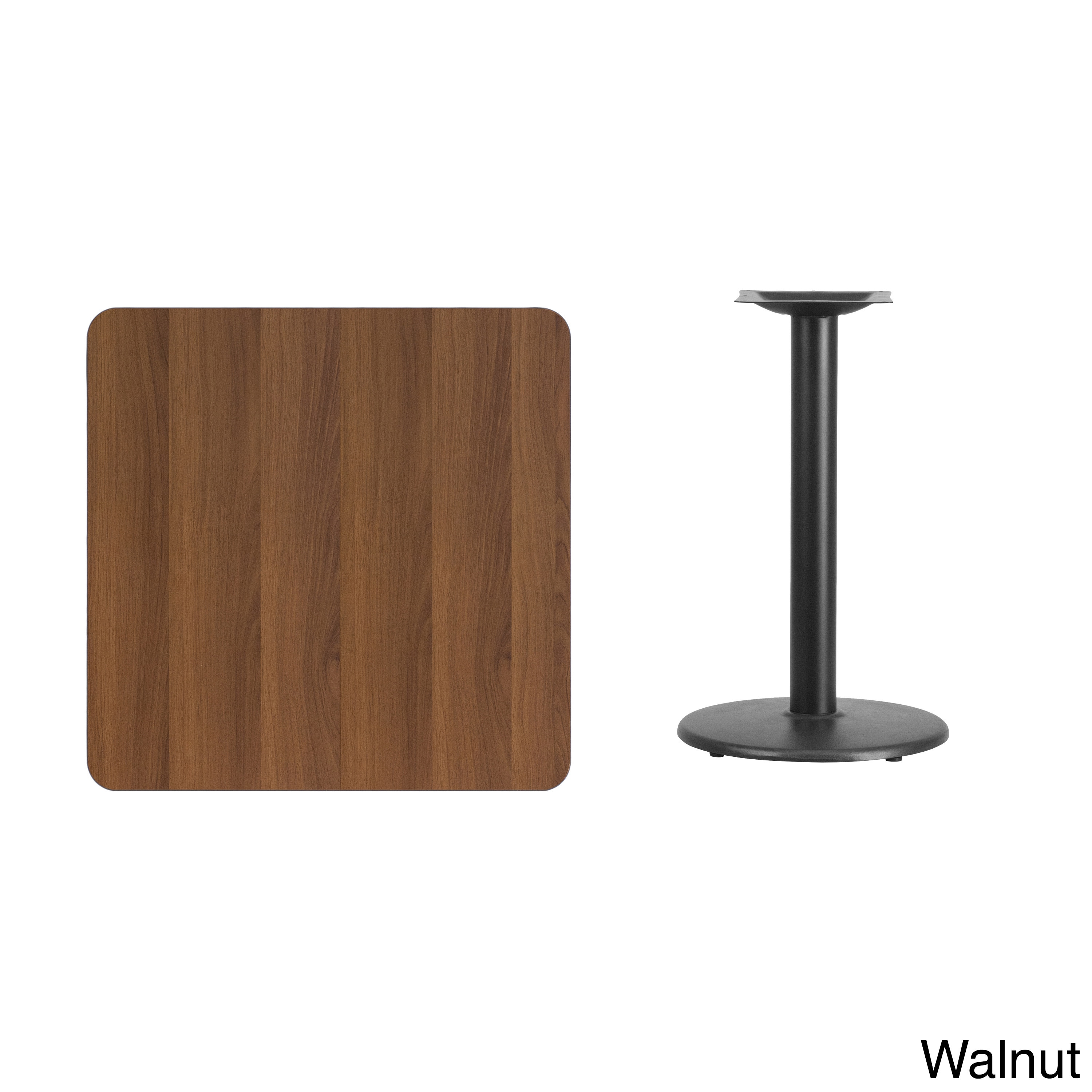 30 Inch Square Laminate Table Top With 18 Inch Round Table Height Base    Free Shipping Today   Overstock.com   17737943