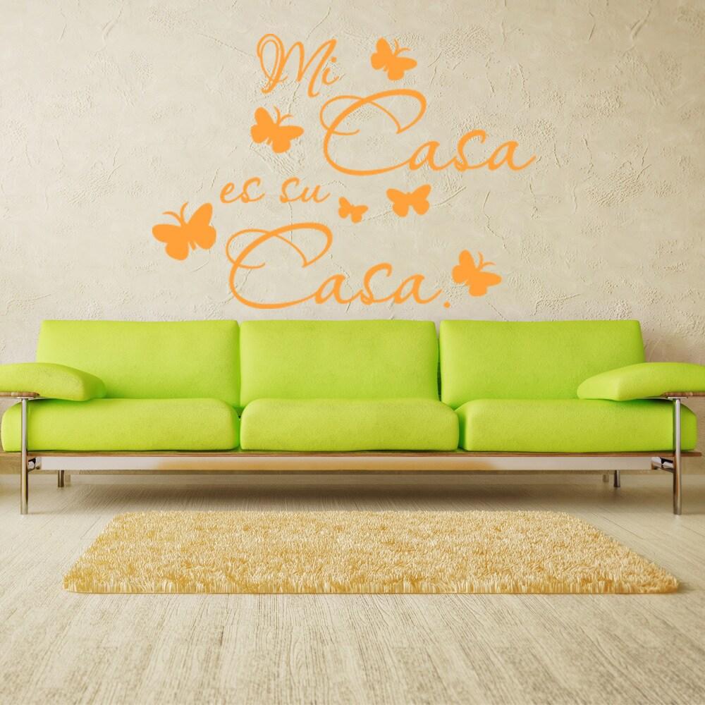 Shop Mi Casa es su Casa Quote Phrases Wall Decal - On Sale - Free ...