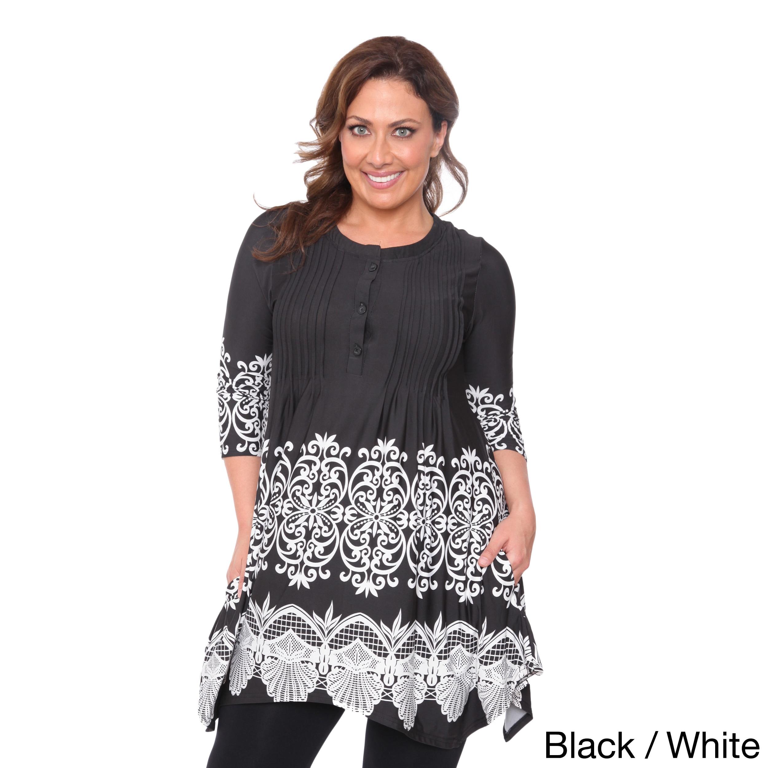 04c4558b3e Shop White Mark Women's Plus Size 'Lucy' Top Tunic - Free Shipping ...