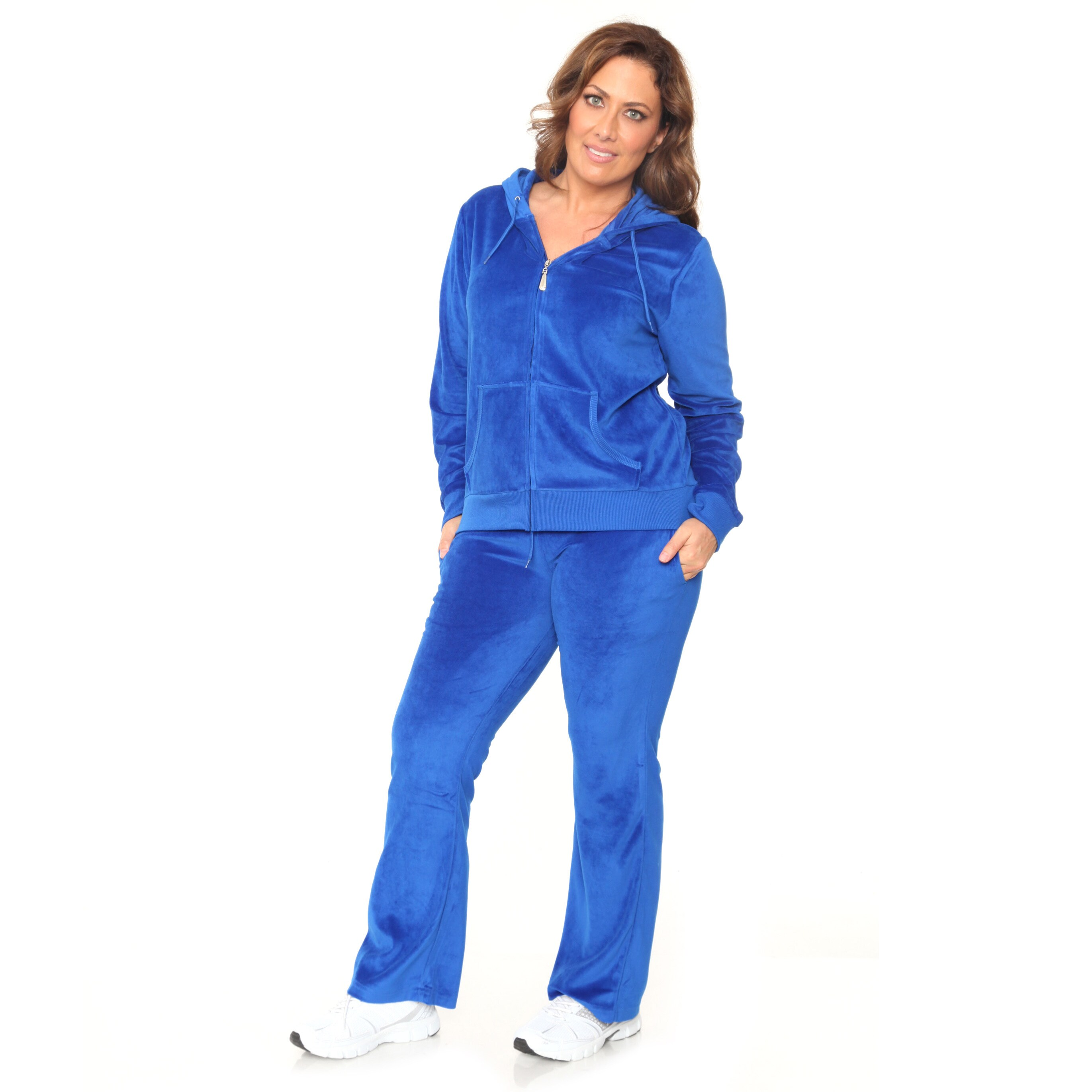 Shop White Mark Women s Plus Size Velour Suit - On Sale - Free Shipping  Today - Overstock - 10678814 3baef9371