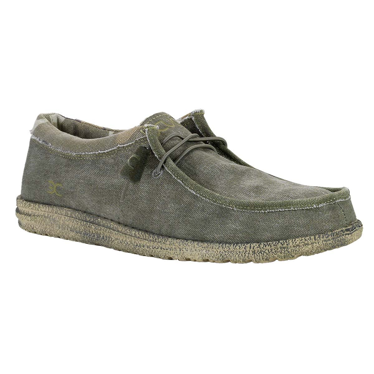 30769ff76bbde Shop Hey Dude Men's 'Wally' Sage/ Camo Shoes - Free Shipping Today -  Overstock - 10678979