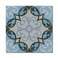 Agadir Royal Green and Blue Handmade Moroccan 8 x 8 inch Cement and Granite Floor or Wall Tile (Case of 12)