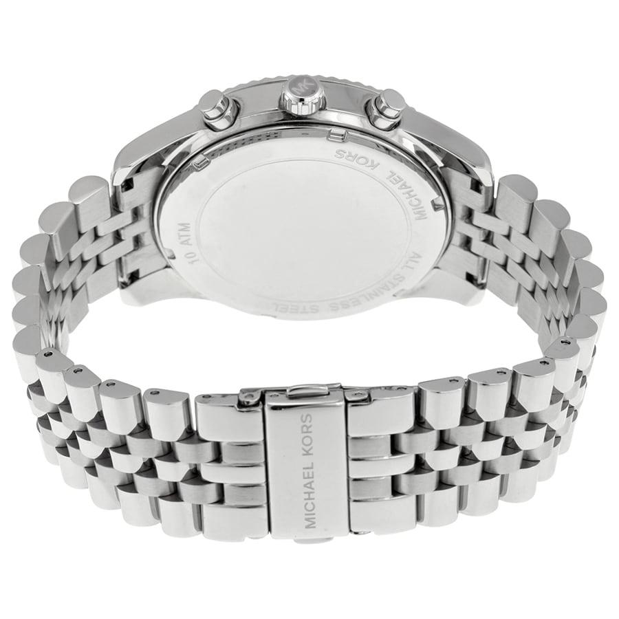 Michael Kors Men S Mk8405 Lexington Chronograph Silvertone Stainless Steel Bracelet Watch Free Shipping Today 10680872
