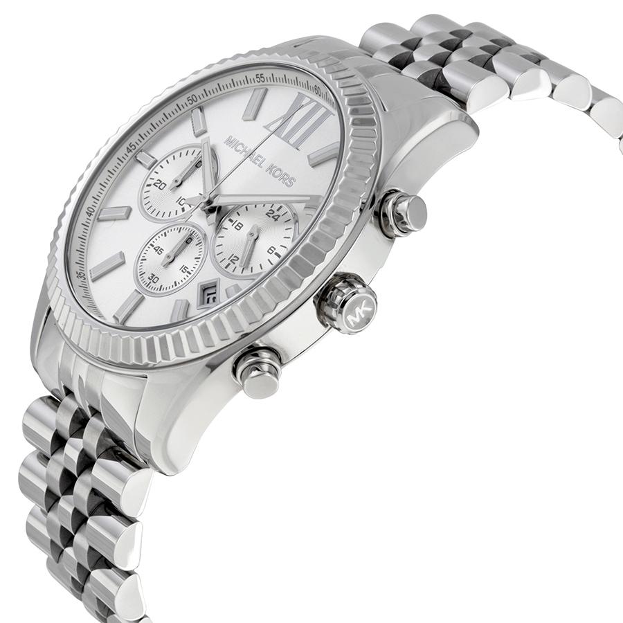 86606f578f54 Shop Michael Kors Men s MK8405 Lexington Chronograph Silvertone Stainless  Steel Bracelet Watch - Free Shipping Today - Overstock - 10680872