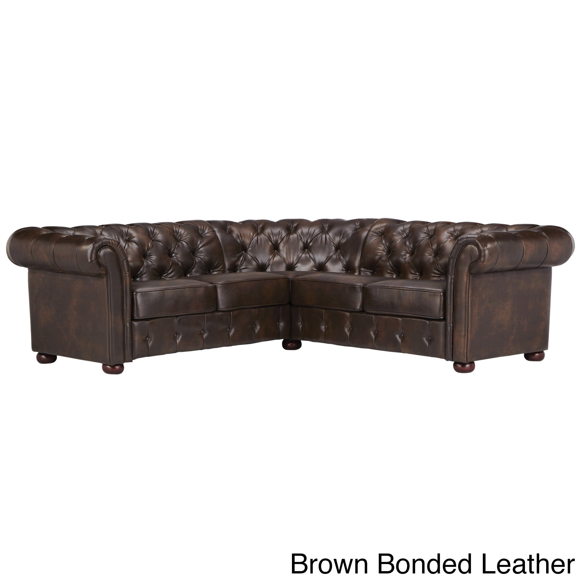 Knightsbridge Tufted Scroll Arm Chesterfield 5-seat L-Shaped Sectional by  iNSPIRE Q Artisan - Free Shipping Today - Overstock.com - 17755613