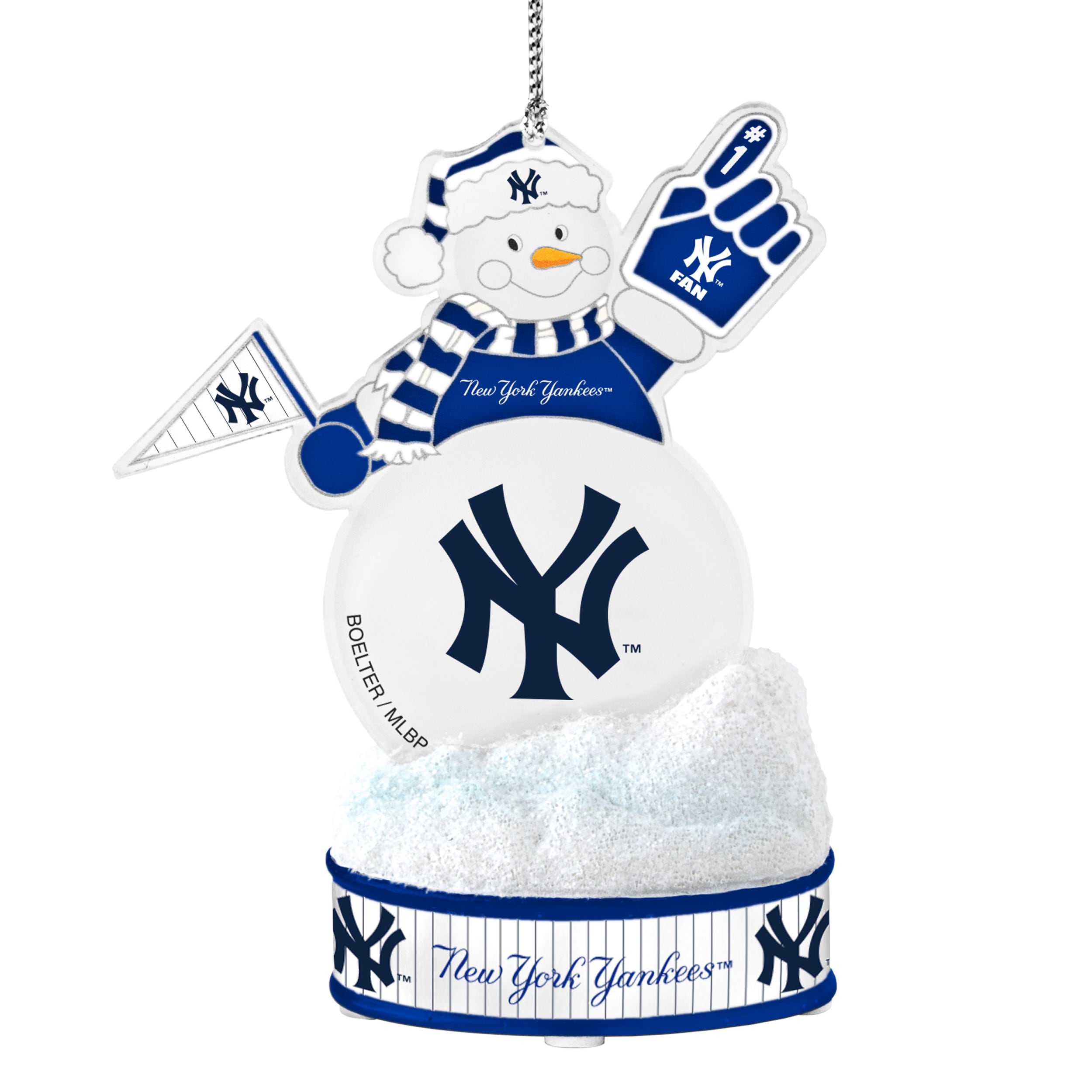 Shop New York Yankees LED Snowman Ornament - Free Shipping On Orders ...