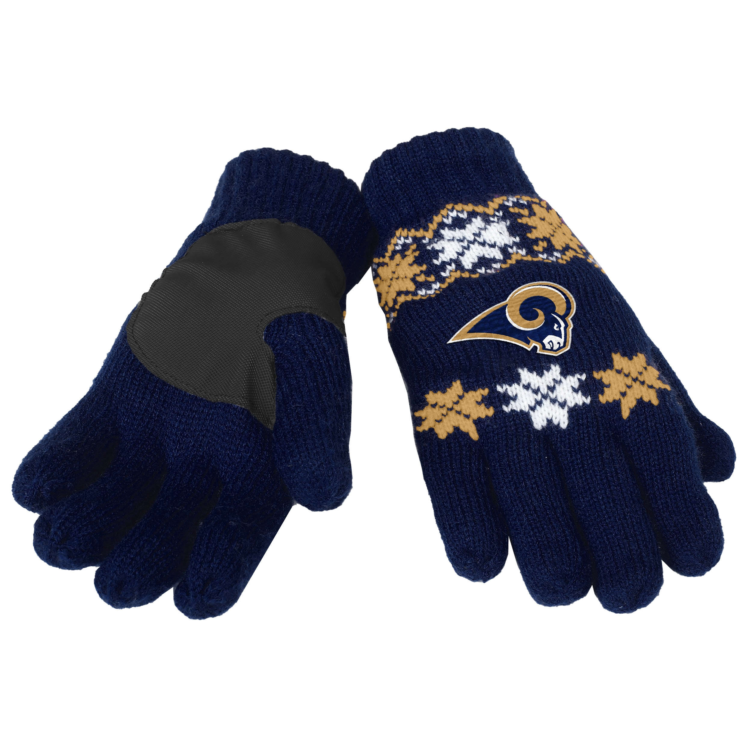 027d4f6017a Shop Forever Collectibles NFL St. Louis Rams Lodge Gloves with Padded Palms  - Free Shipping On Orders Over $45 - - 10693837