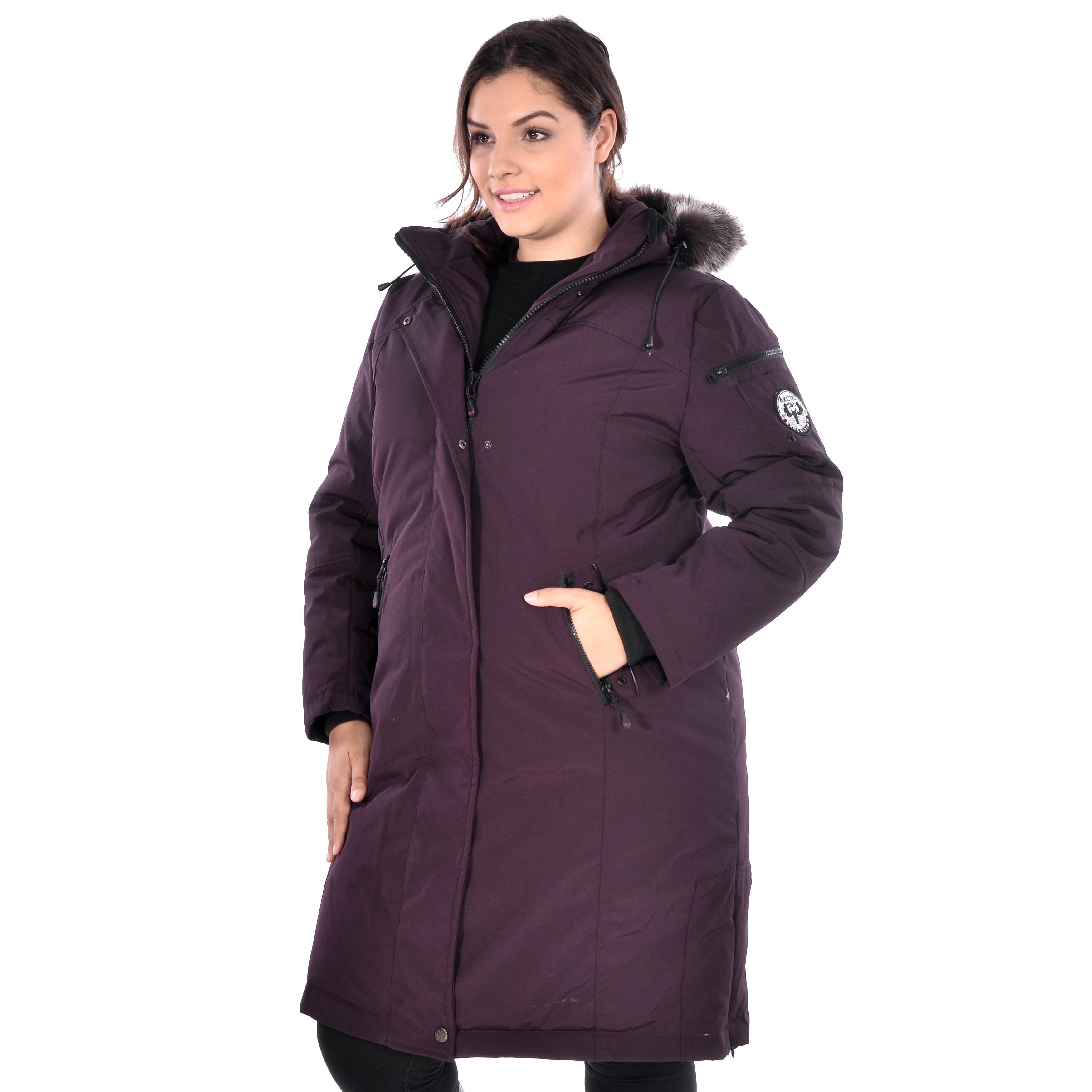 Shop Women s Plus Size Down Coat - Free Shipping Today - Overstock ... 32b000cf85