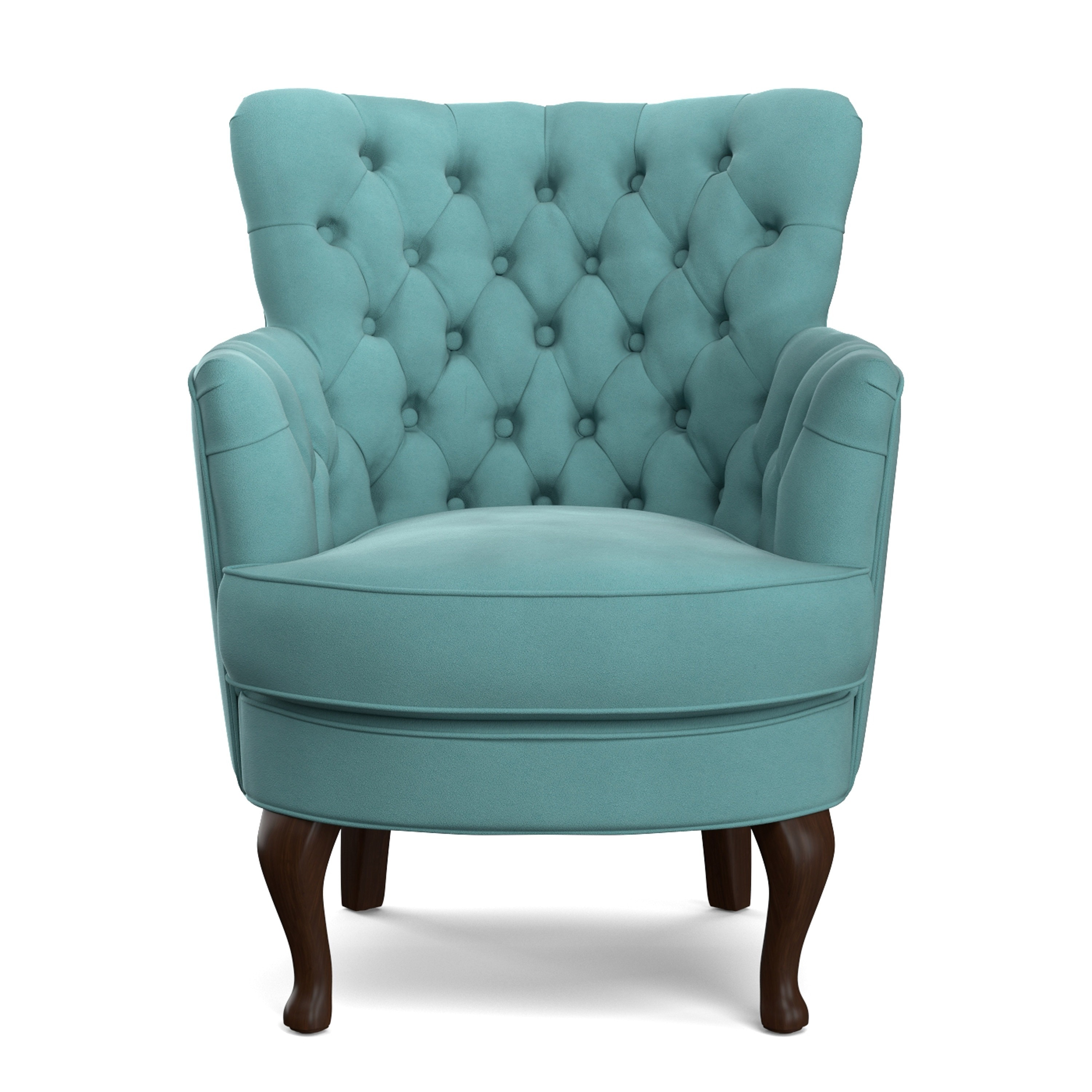 Superior Handy Living Priscilla Turquoise Blue Velvet Petite Arm Chair   Free  Shipping Today   Overstock.com   17756161