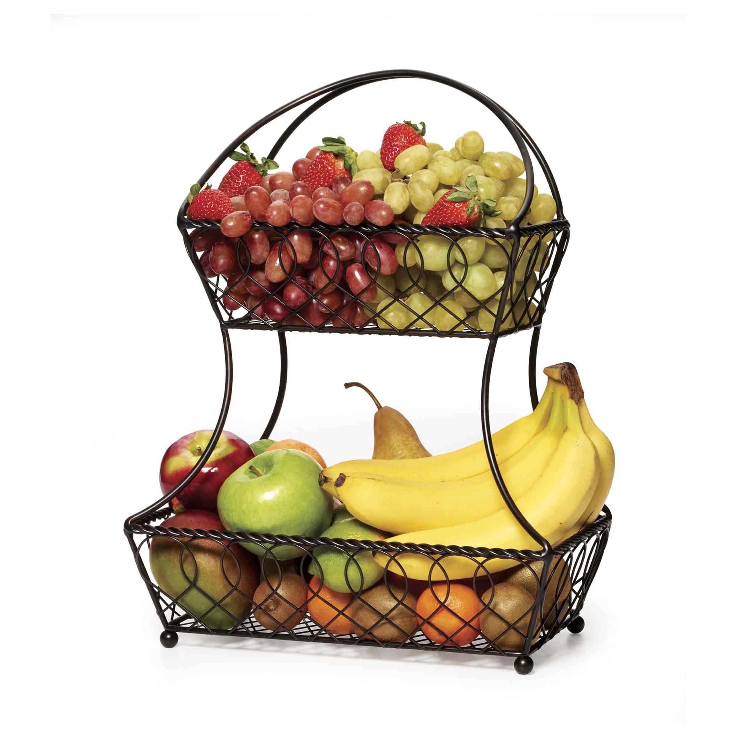 Gourmet Basics 2 Tier Flatback Basket Loop Lattice Wire - Free Shipping On  Orders Over $45 - Overstock.com - 17756409