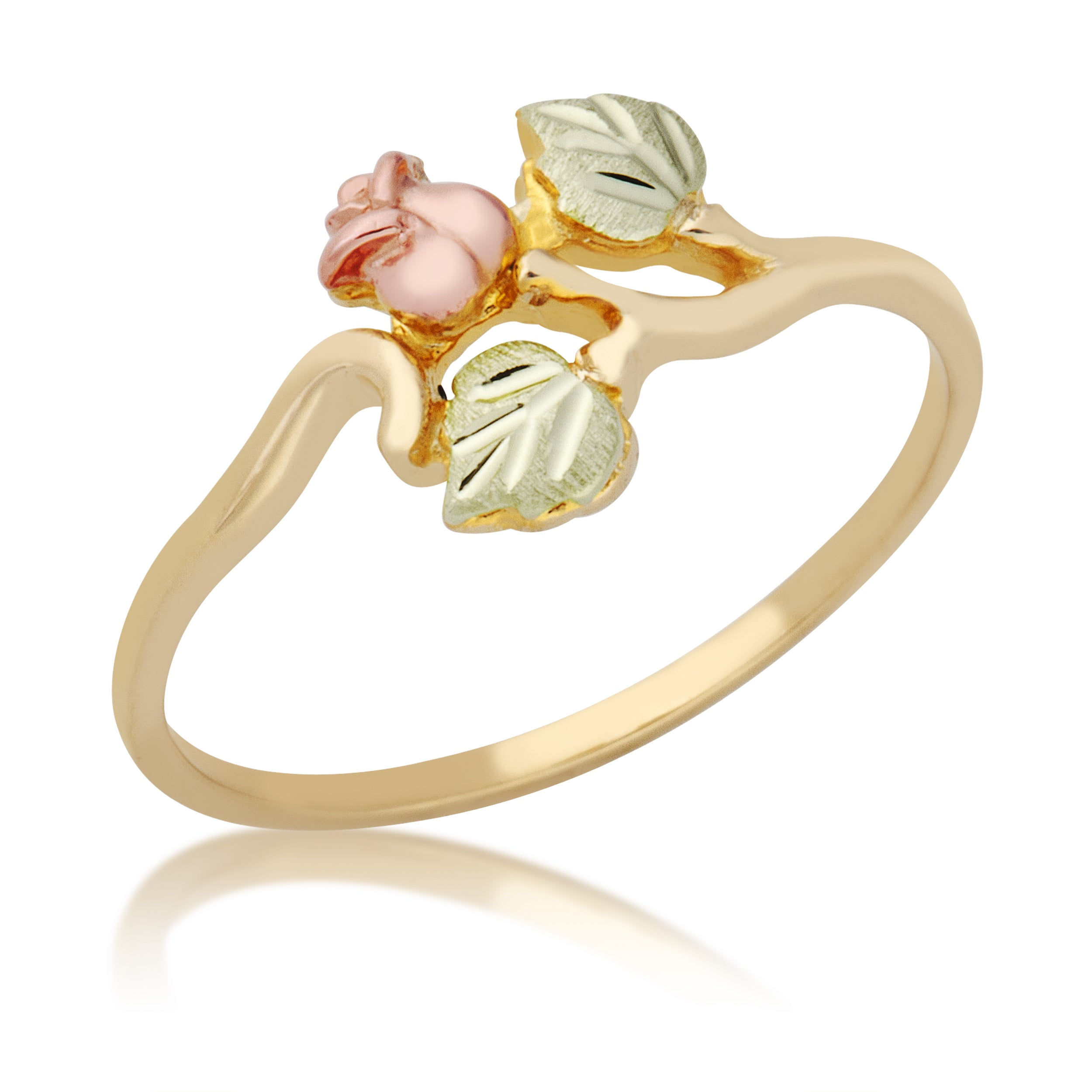 Black Hills Gold Rose Ring - Free Shipping Today - Overstock.com ...