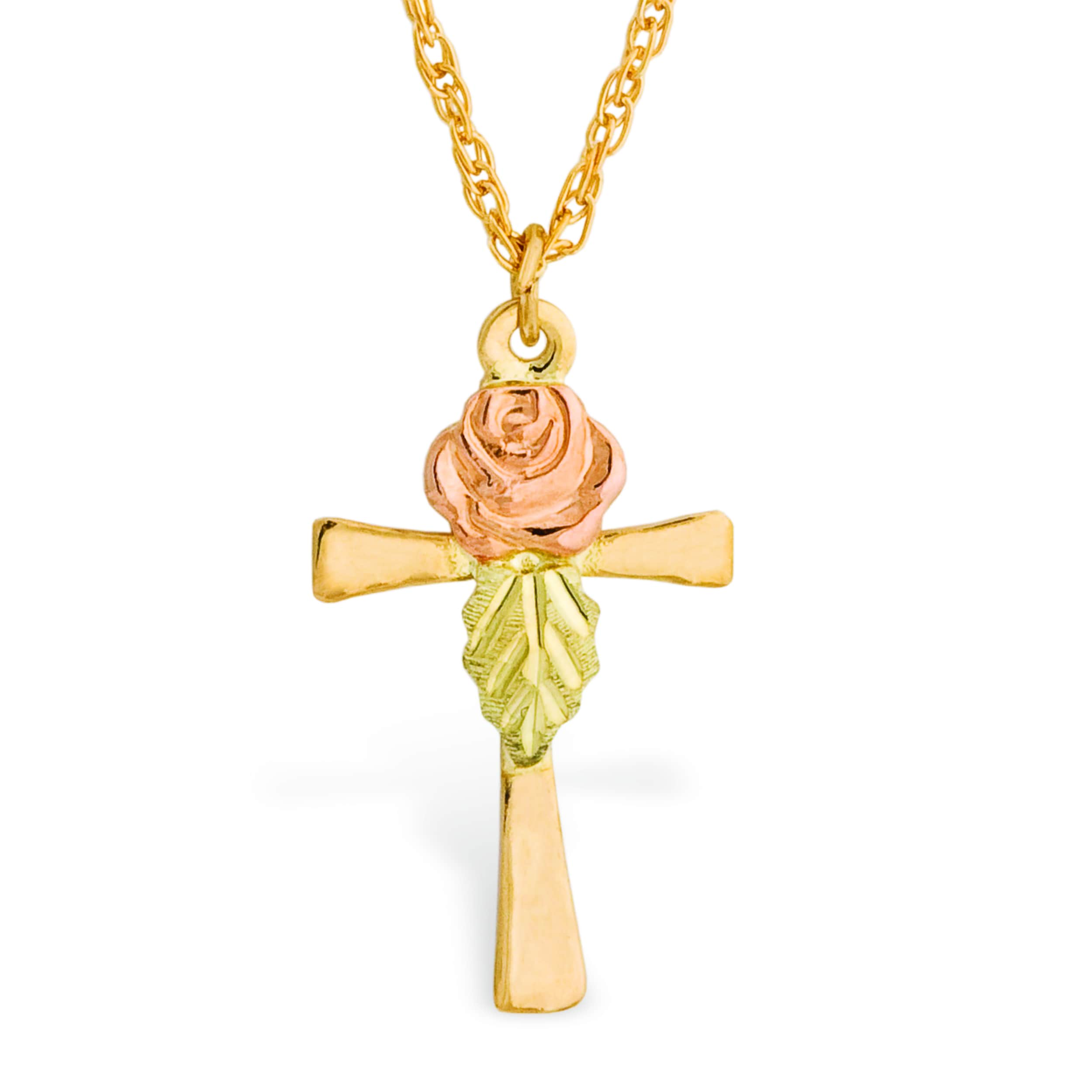 Shop black hills gold rose cross pendant free shipping today shop black hills gold rose cross pendant free shipping today overstock 10694722 aloadofball Image collections