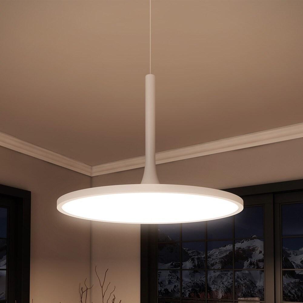 Shop VONN Lighting Salm 17 inches LED Chandelier, Height Adjustable ...